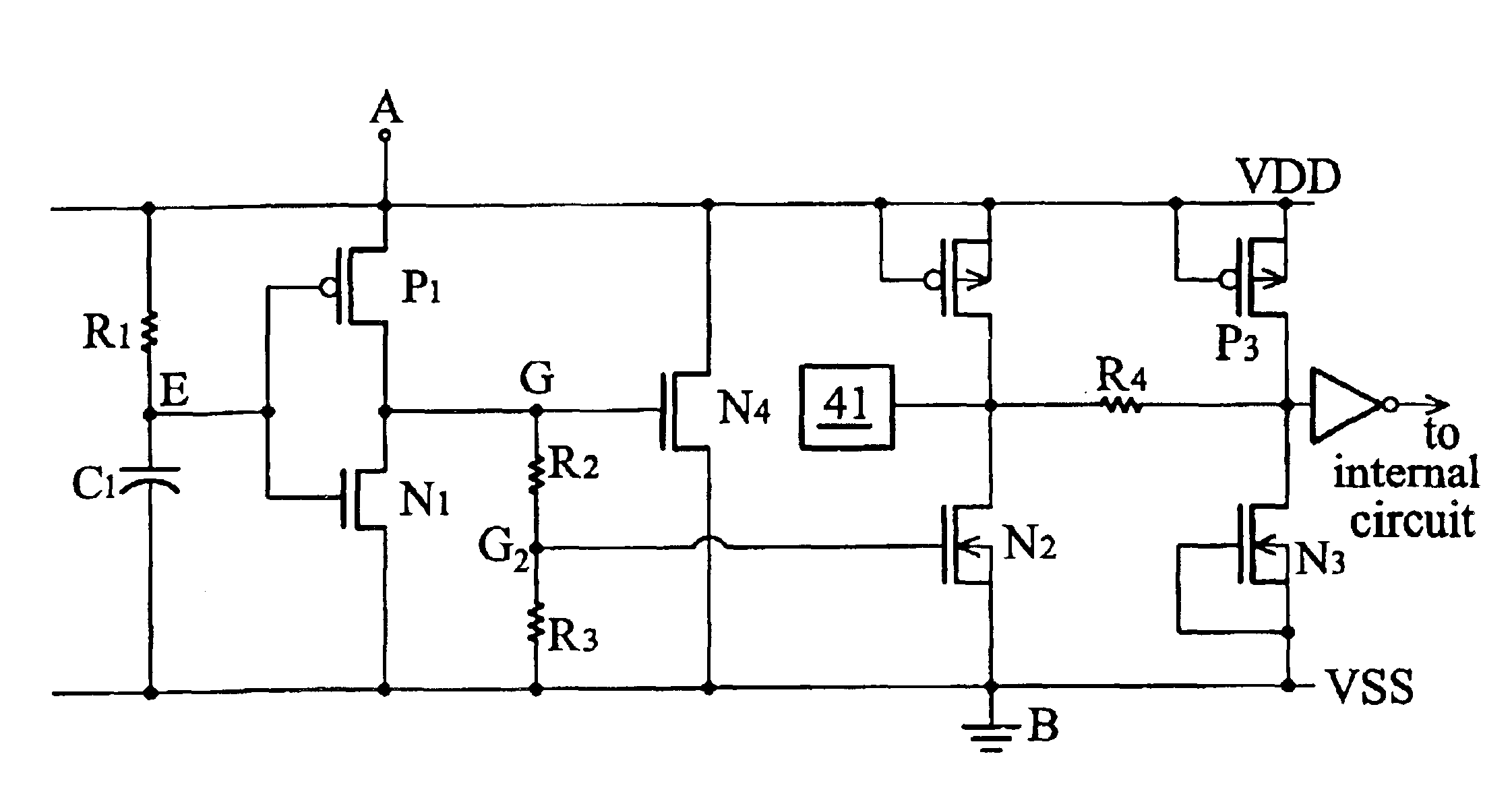 patent us6919602 gate coupled mosfet esd protection circuit patent drawing