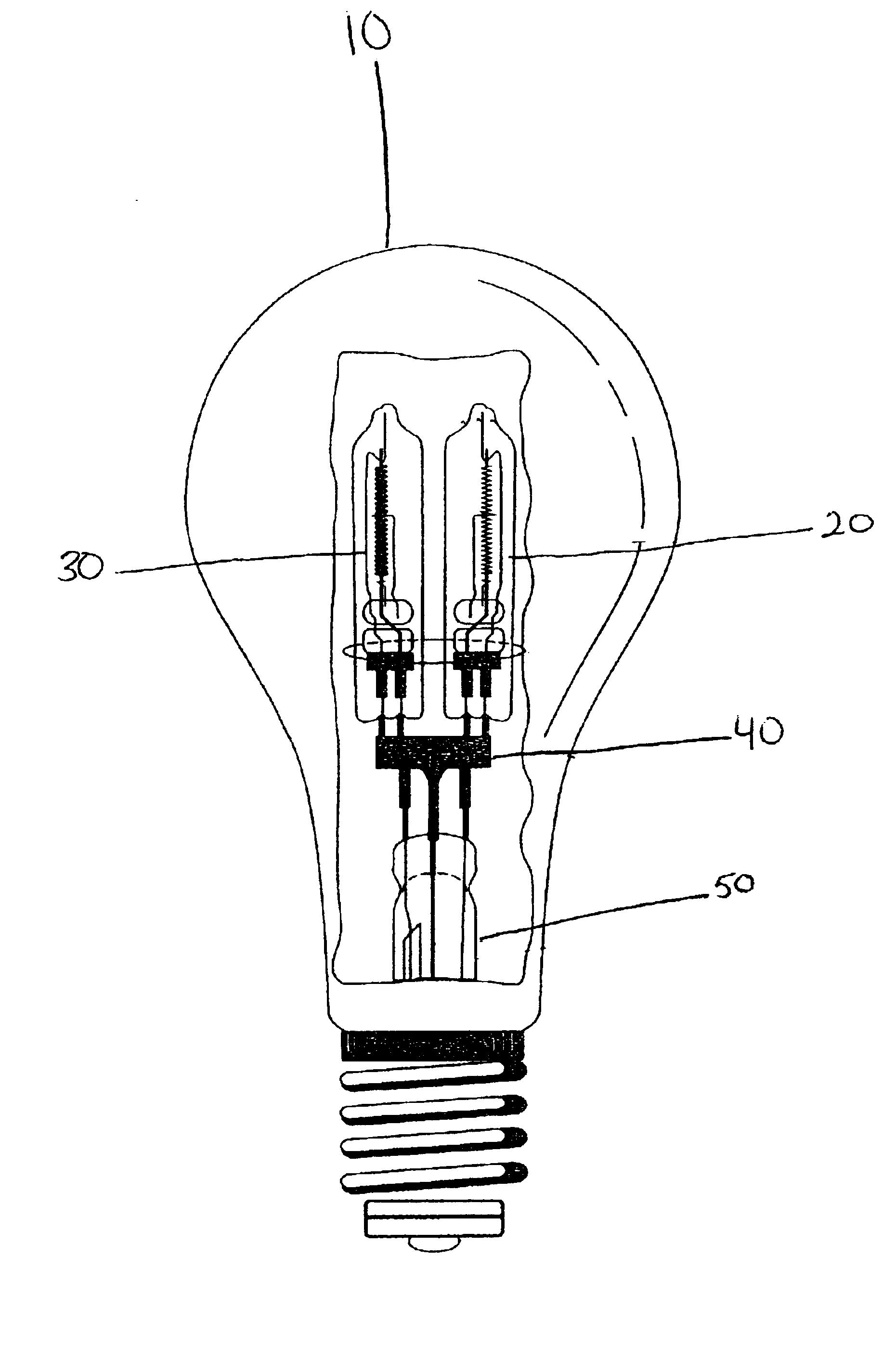 Patent US Halogen 3 way light bulb Google Patents