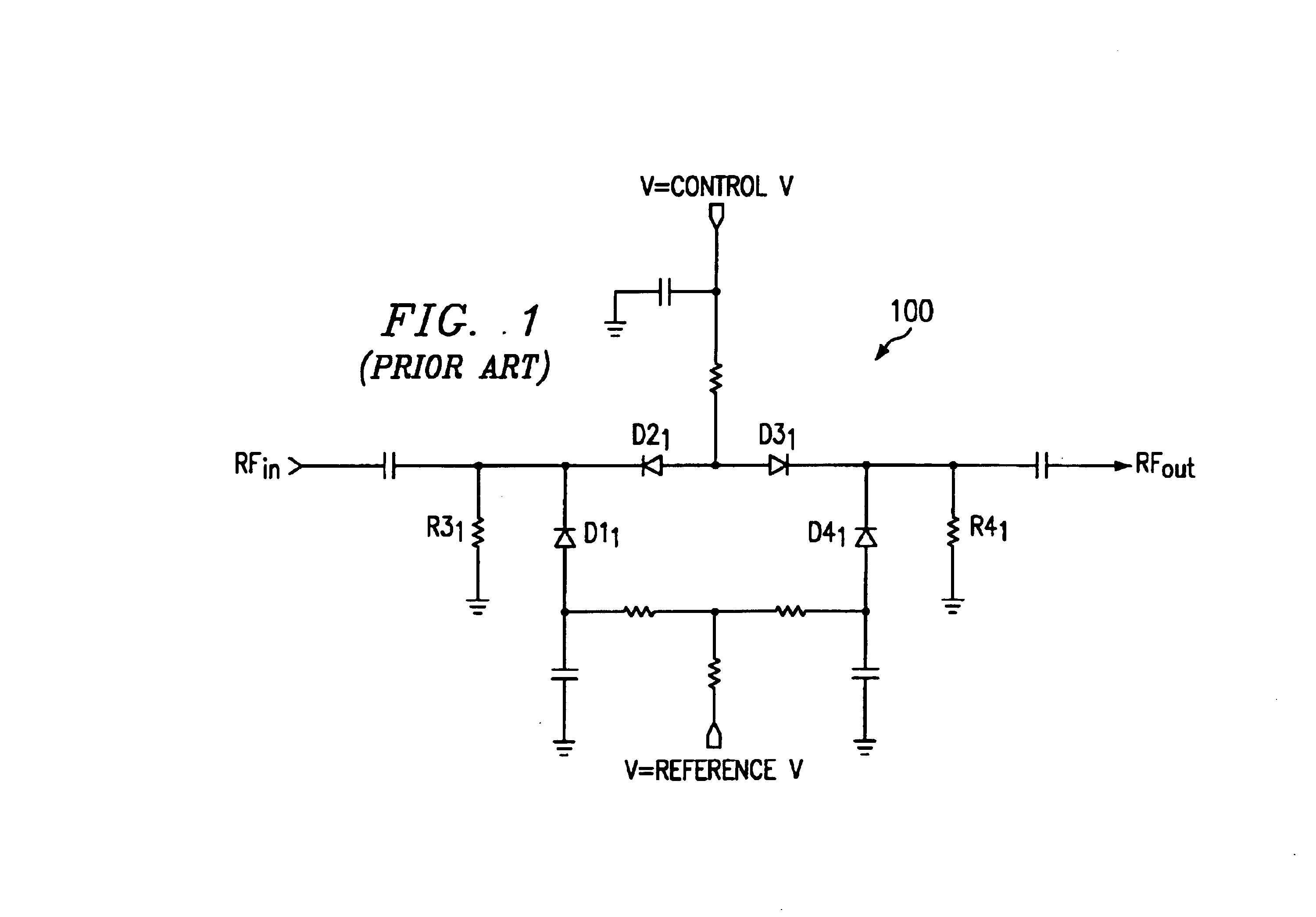US06919774 20050719 D00001 patent us6919774 broadband pin diode attenuator bias network Basic Electrical Wiring Diagrams at gsmx.co