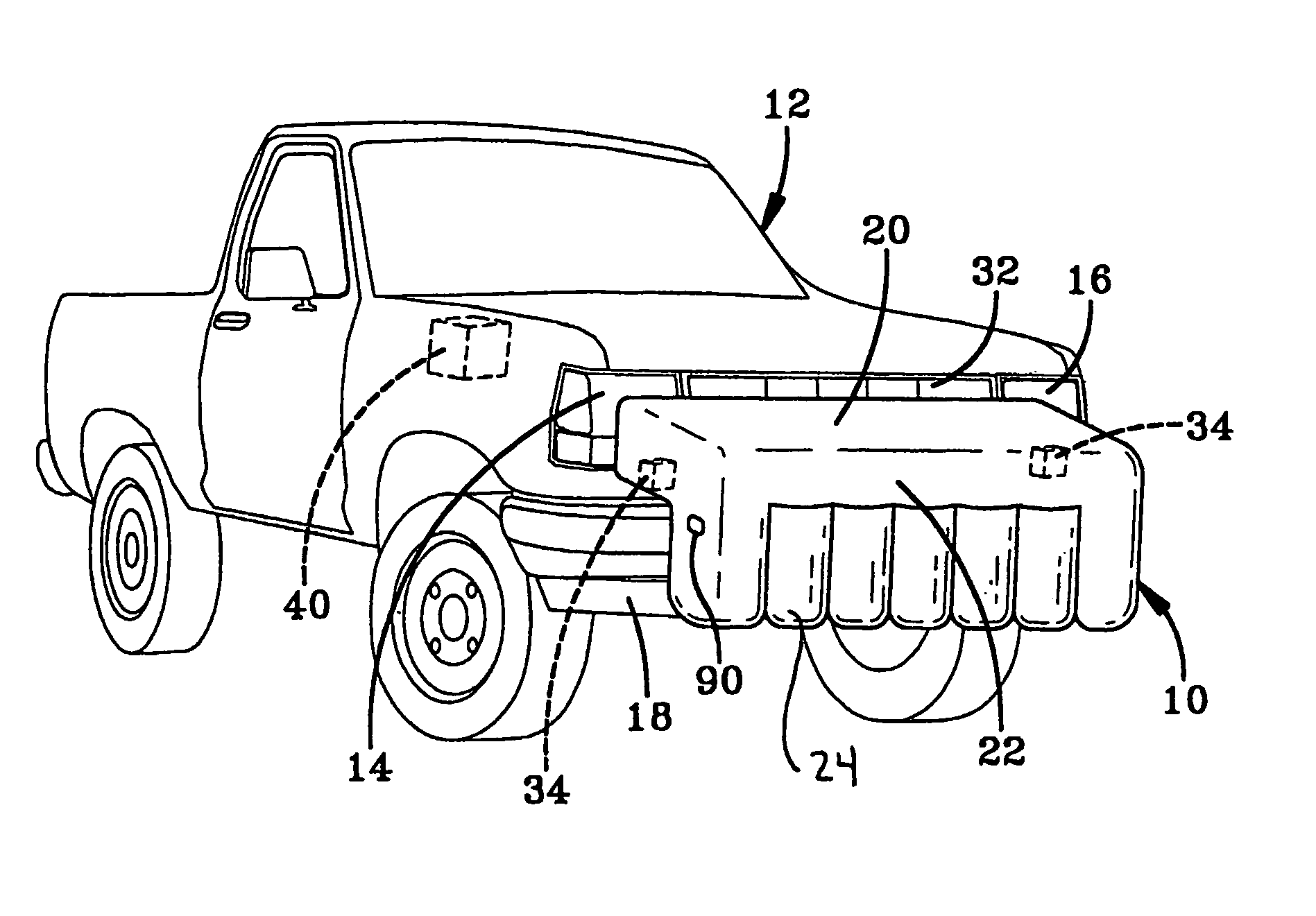Design of a car bumper - Patent Drawing