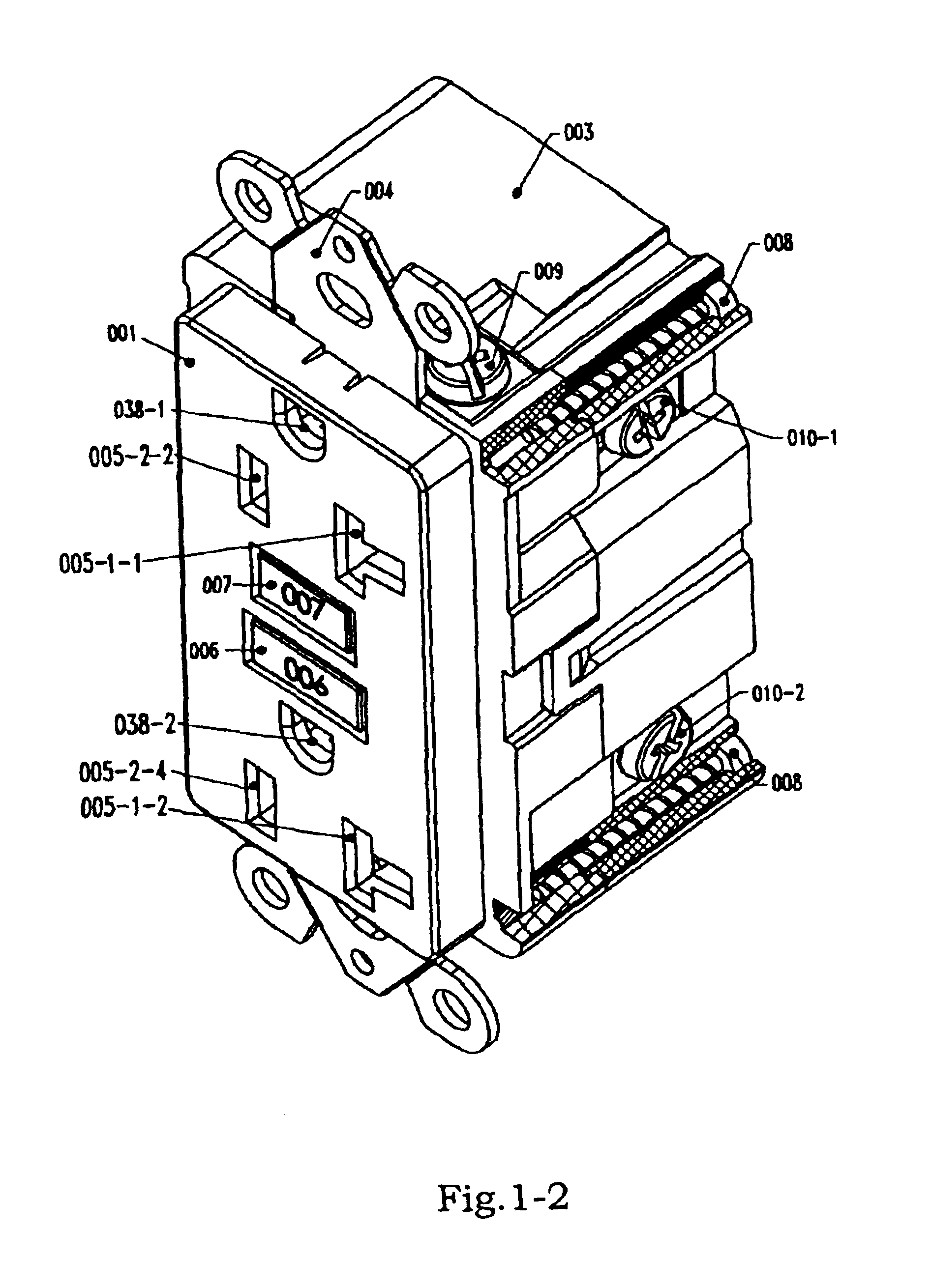 US06930574 20050816 D00002 ground fault circuit interrupter on building wiring fault