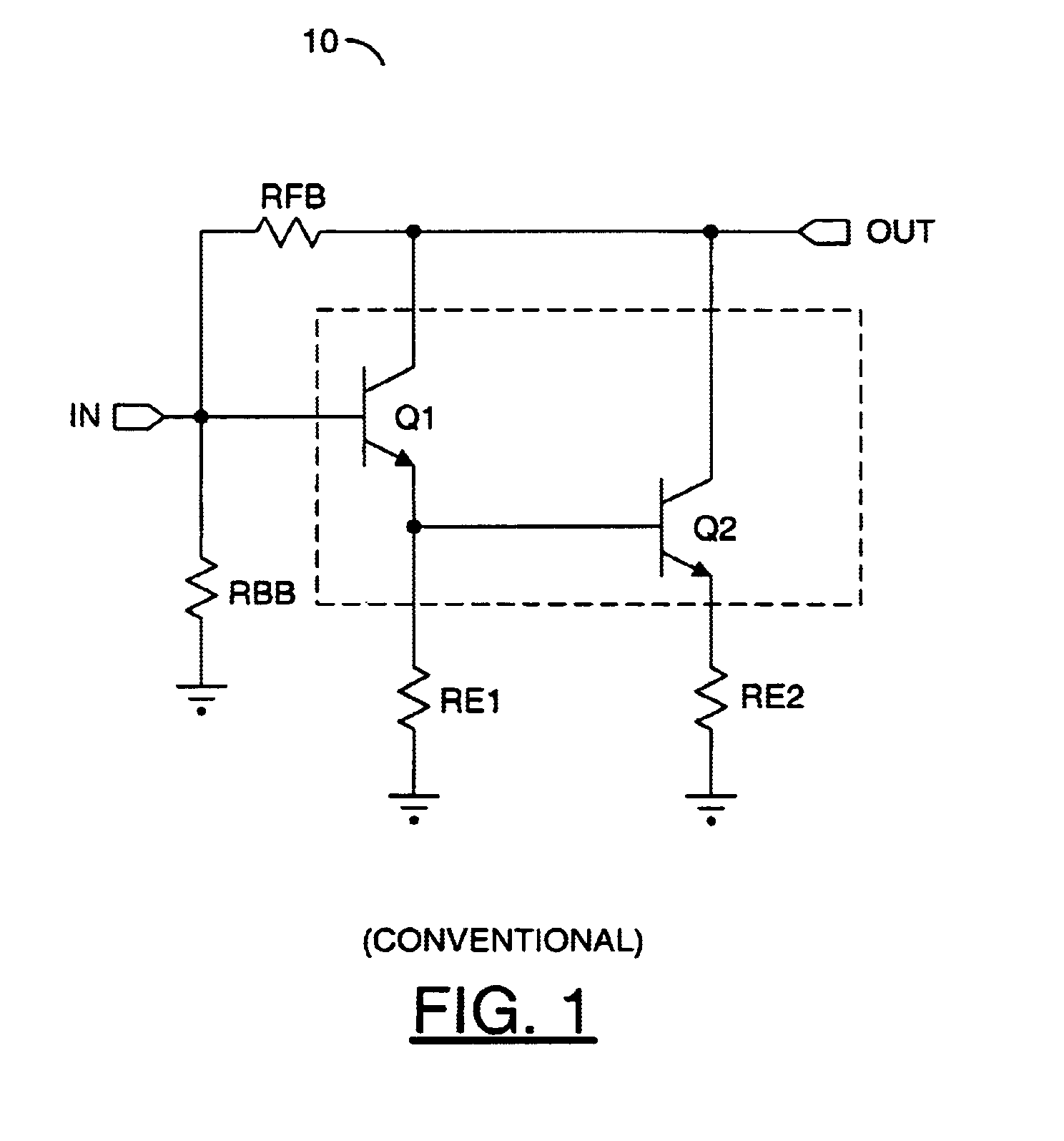 Patent Us6933787 Linearized Darlington Amplifier Google Patents Circuit Diagram Currents In The Pair Drawing