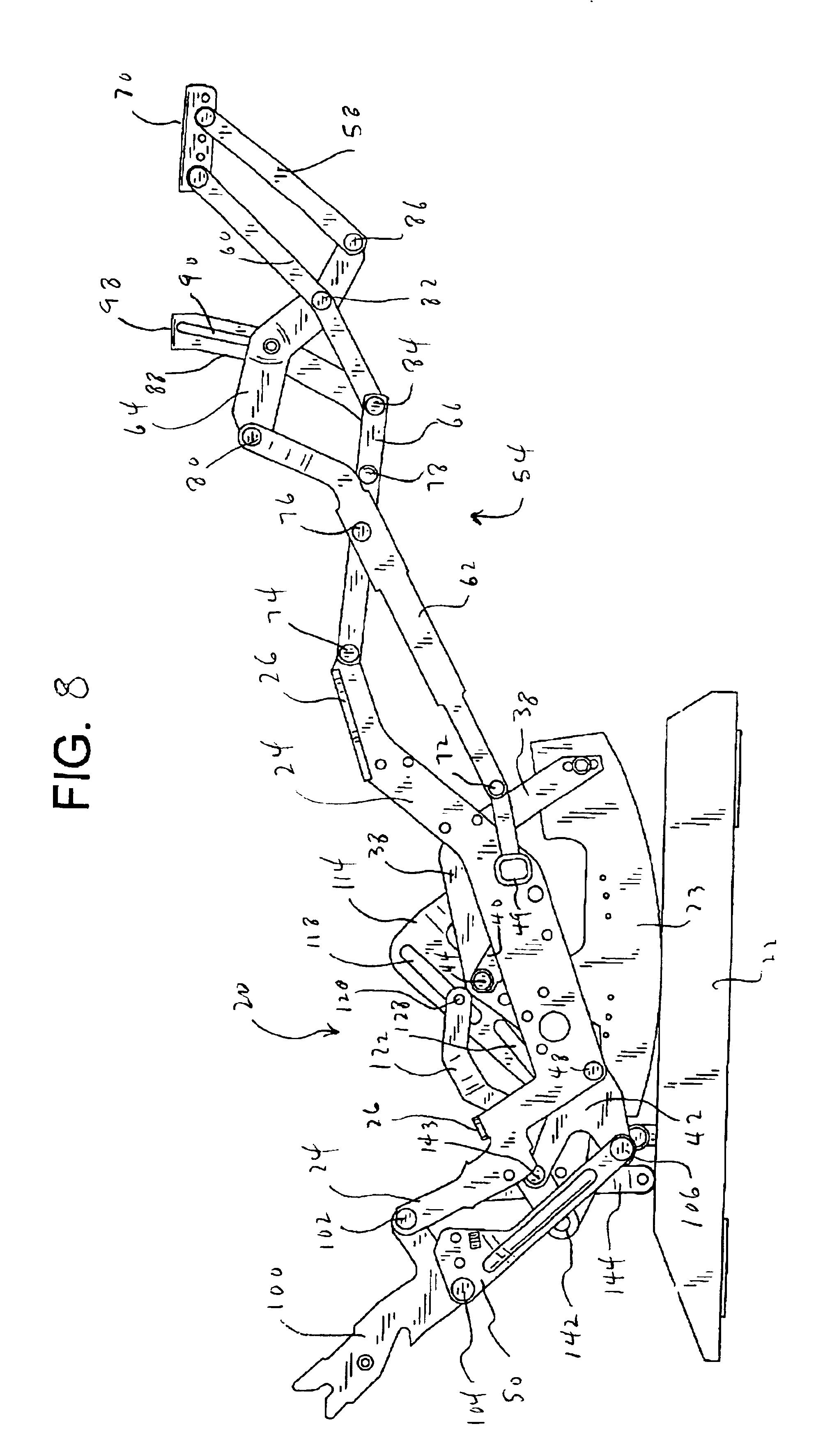 patent us6945599 - rocker recliner mechanism