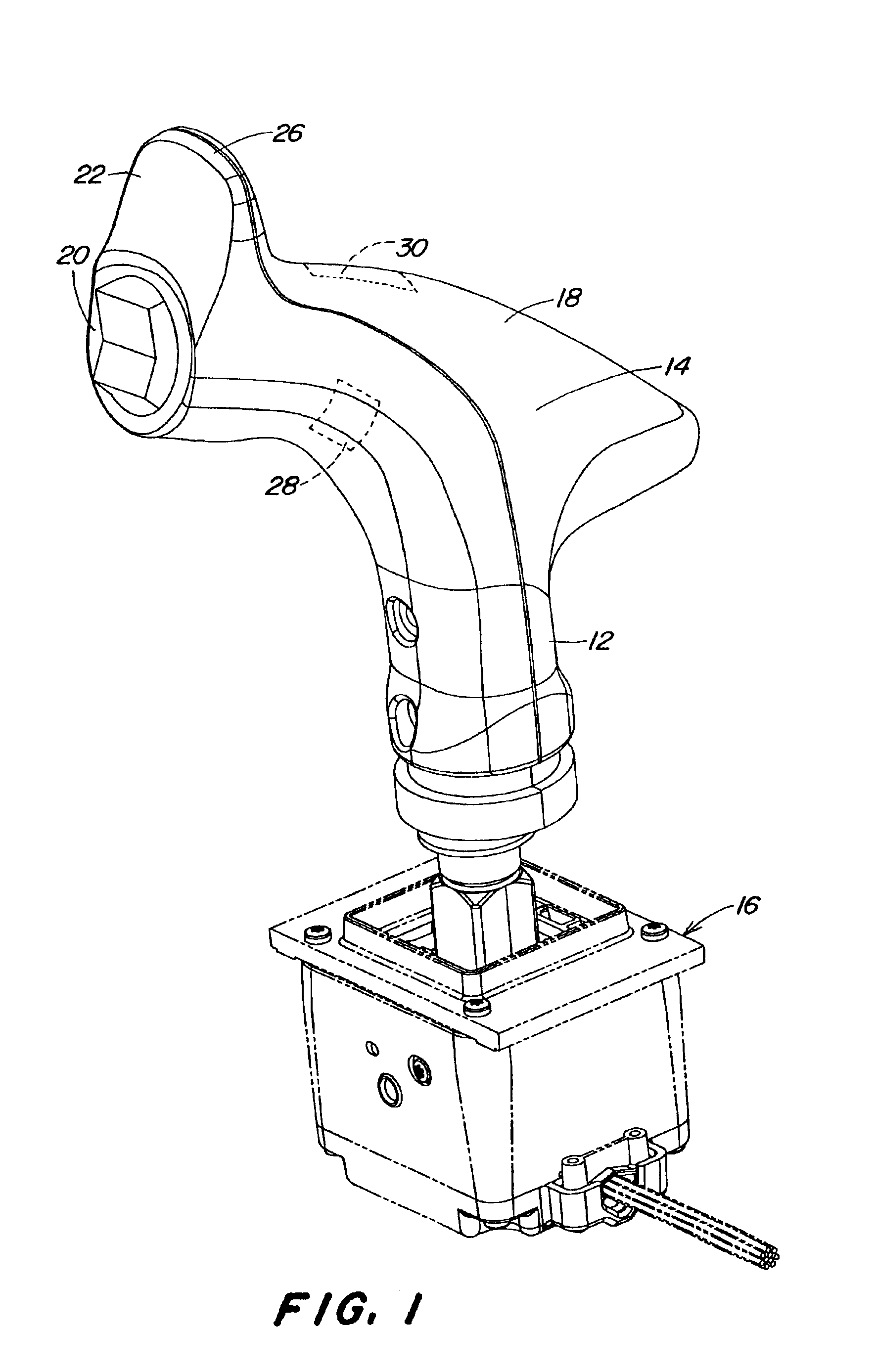 patent us6948398 - joystick with enabling sensors