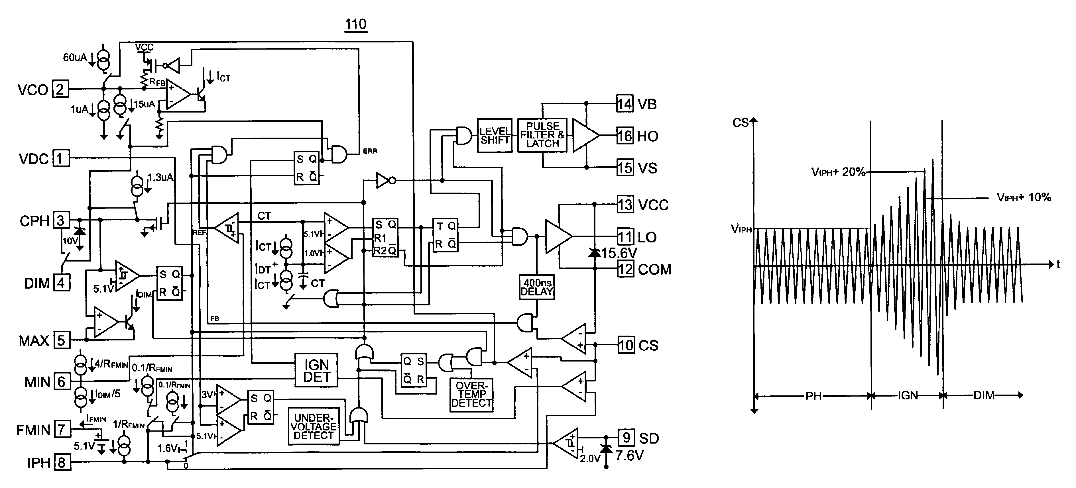 Patent Us6949888 Dimming Ballast Control Ic With Flash Suppression Ho 4 Bulb Wiring Diagram Drawing