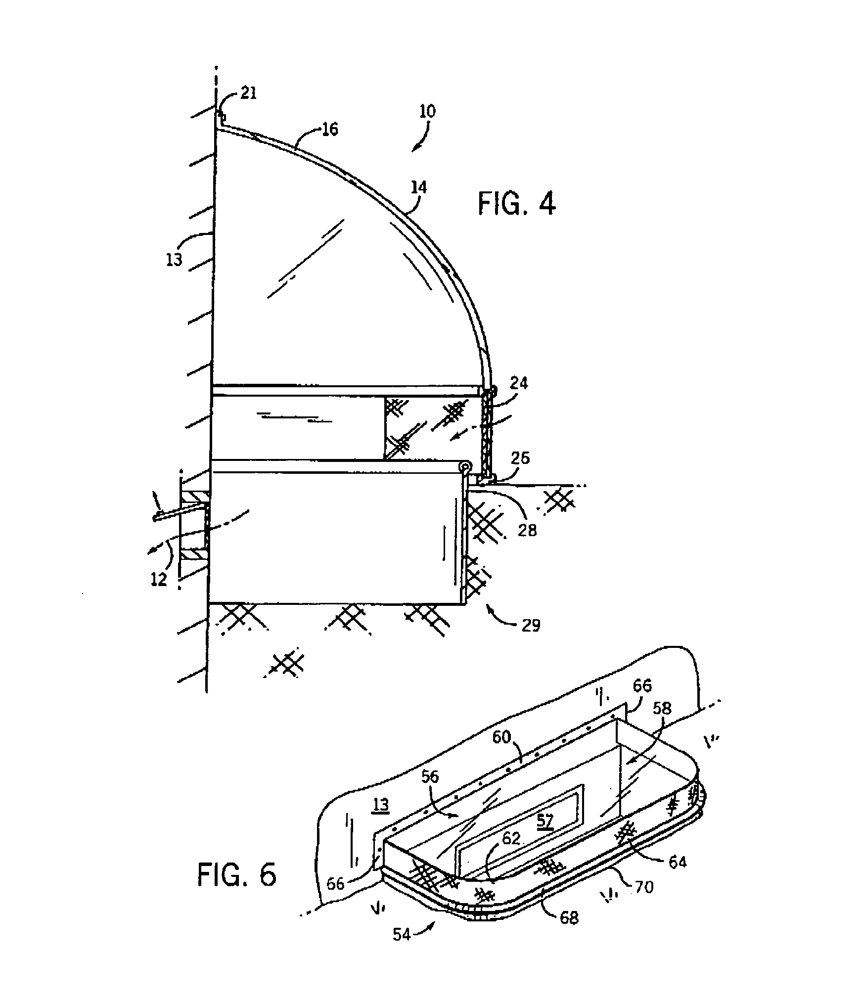 patent us6955011 basement window shield with integrated vent