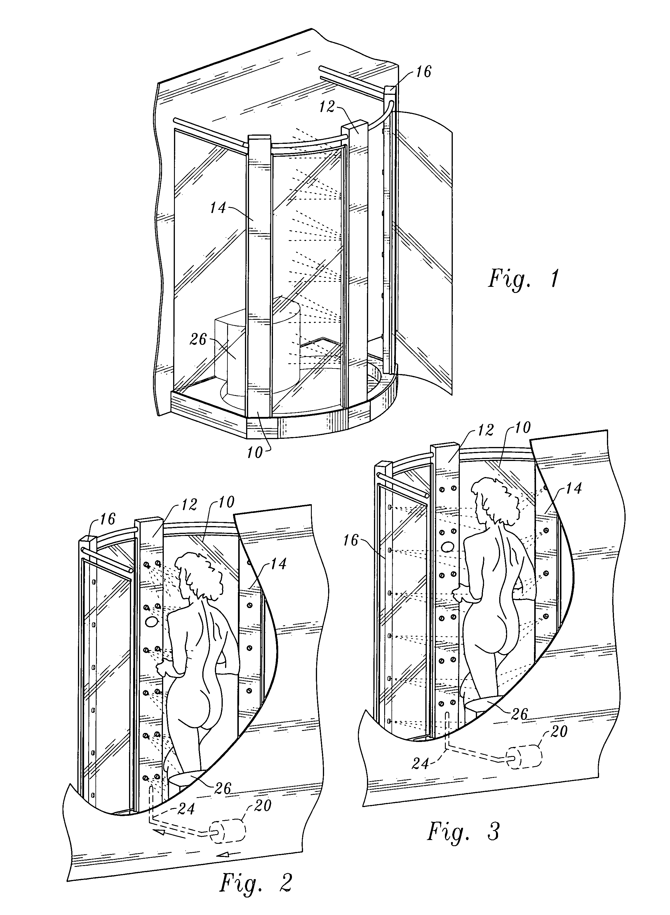 patent us6962005 - dryer system for shower