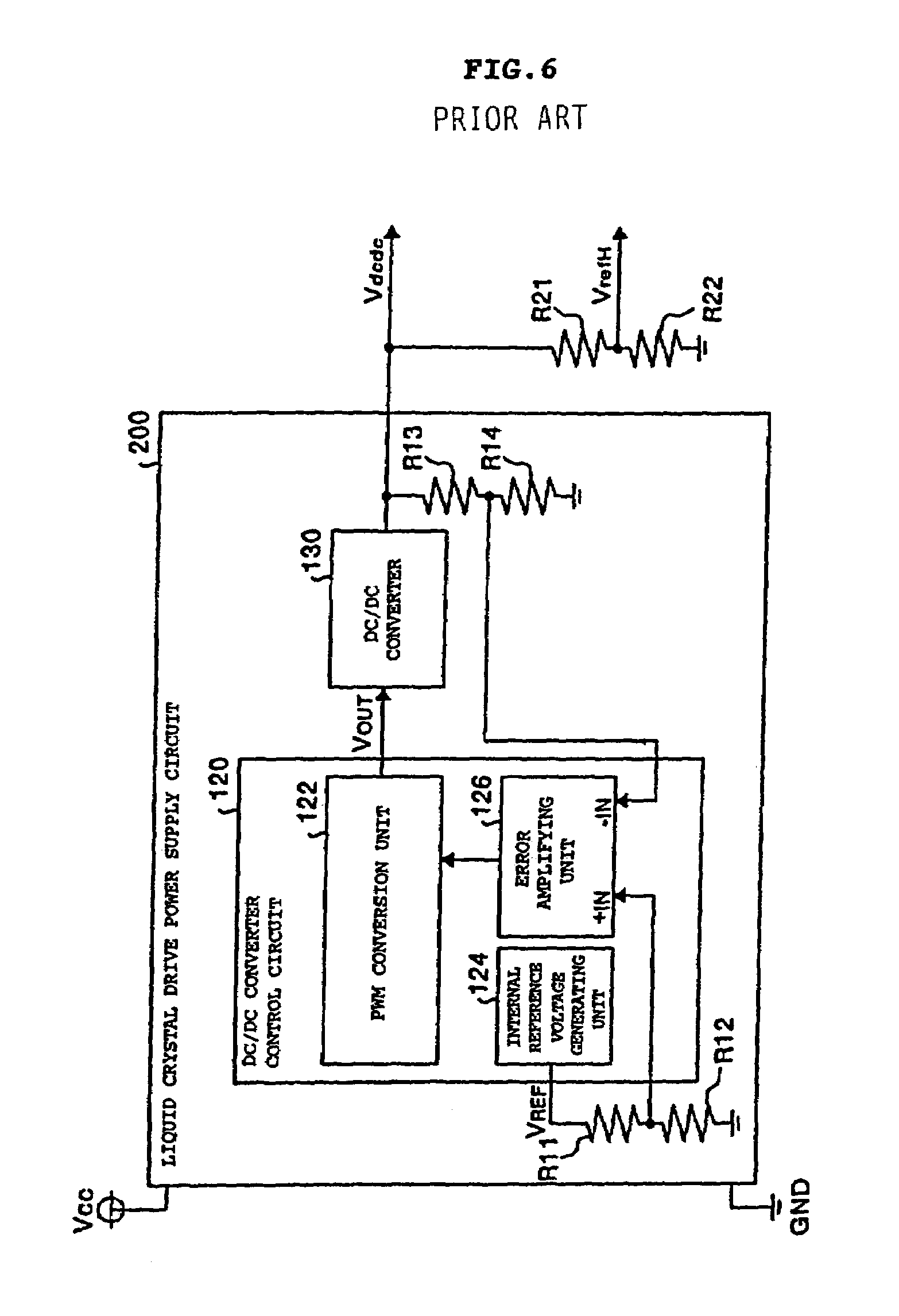 Patent Us6963323 Power Supply And Reference Voltage Circuit For Low Dc Converter Powersupplycircuit Drawing