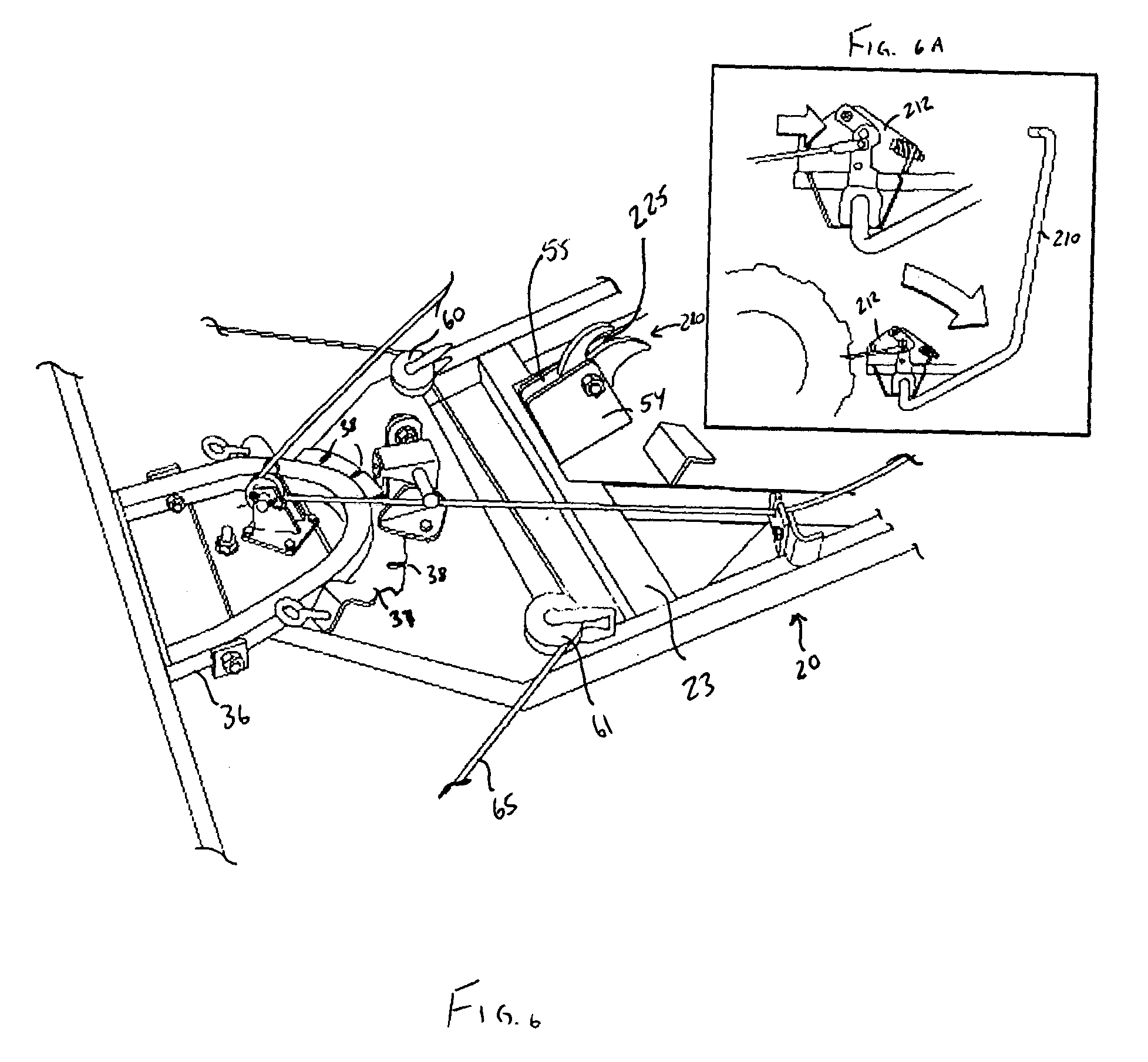 Patent Us6964121 All Terrain Vehicle Mount Assembly For A Circuit Diagram Of Clap Switch Drawing