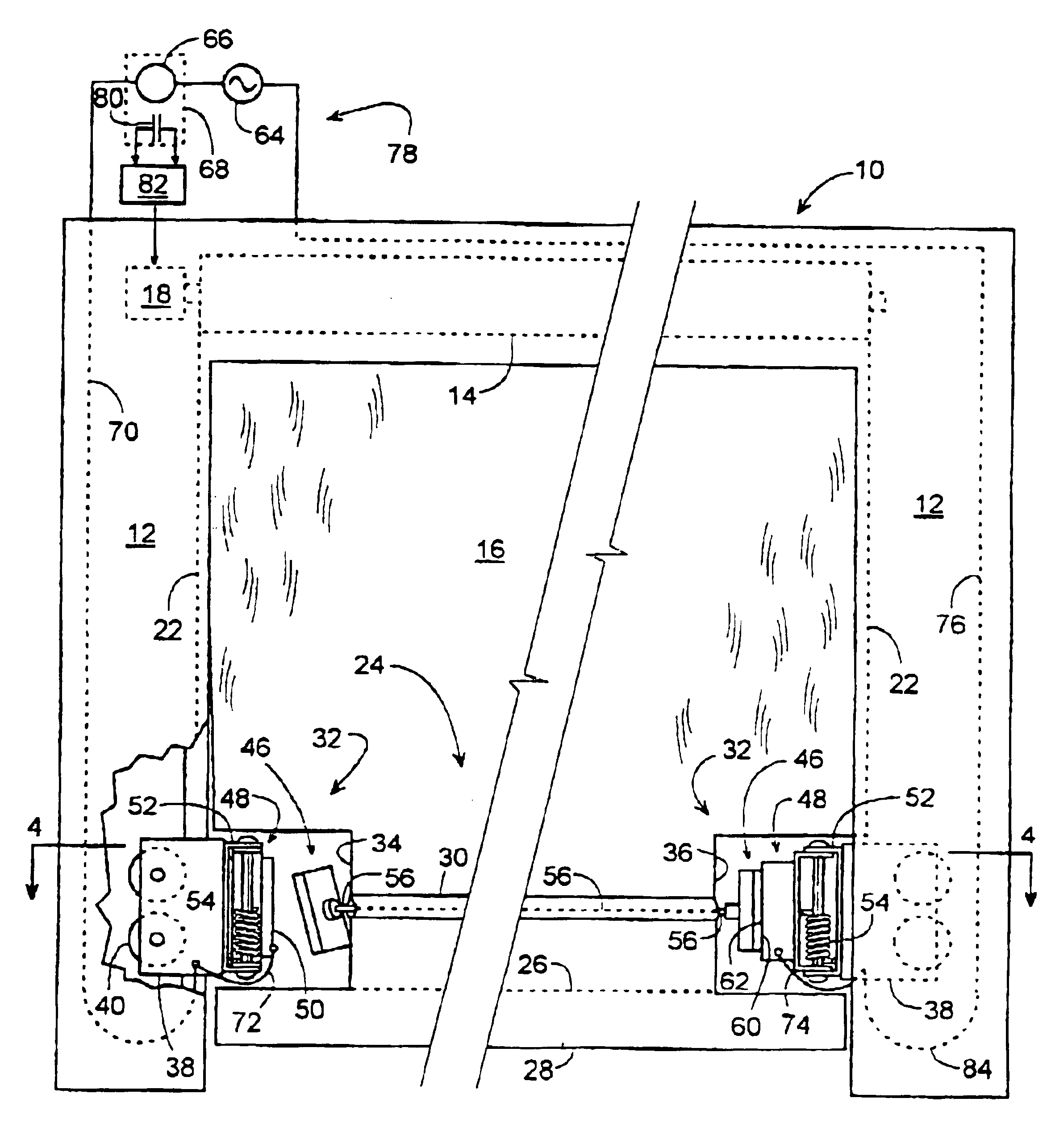 US06964289 20051115 D00000 patent us6964289 industrial door system responsive to an impact rytec system 3 wiring diagram at sewacar.co