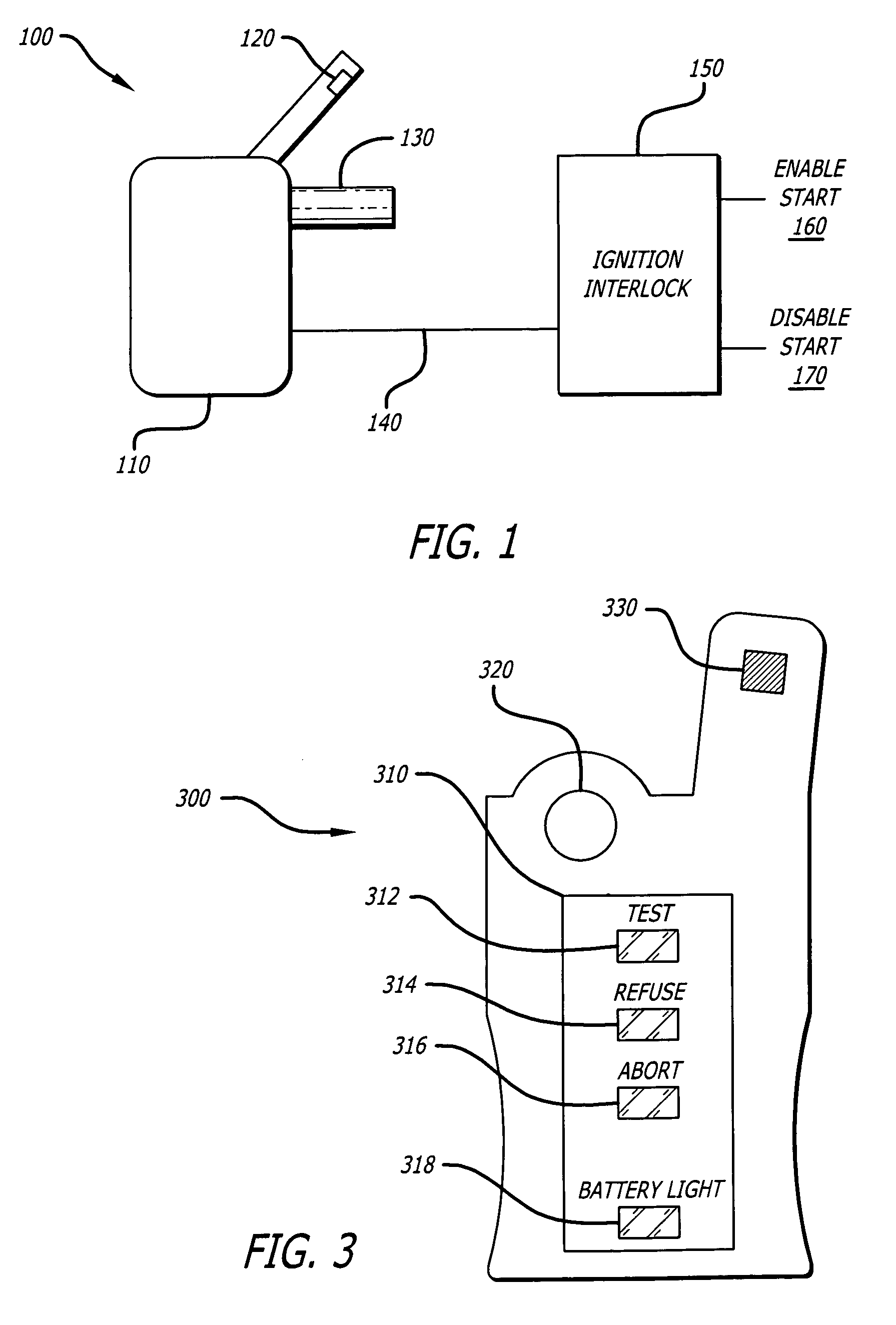 Patent US Breath alcohol detection system with