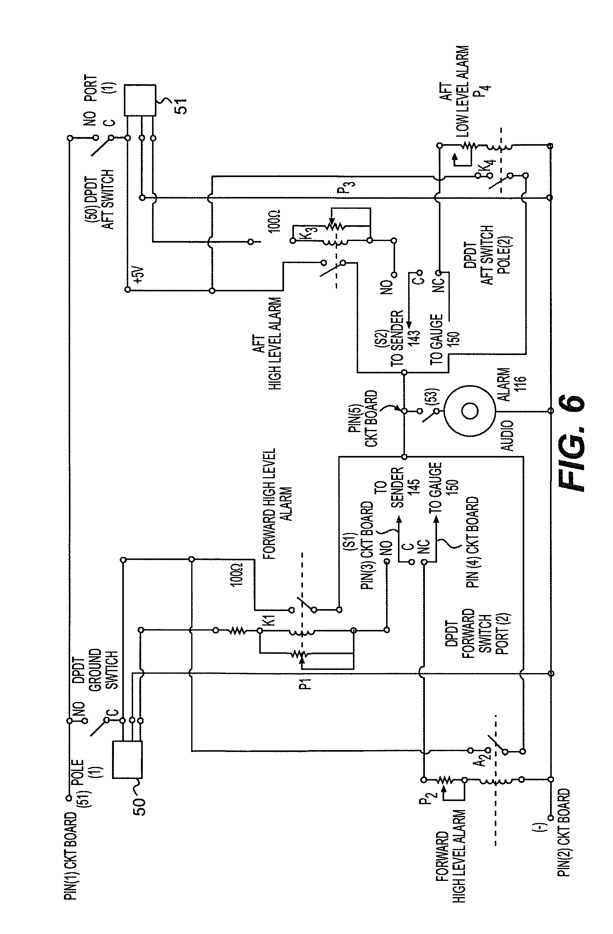 US06970079 20051129 D00006 patent us6970079 high low level alarm controller google patents lester controls wiring diagrams at webbmarketing.co