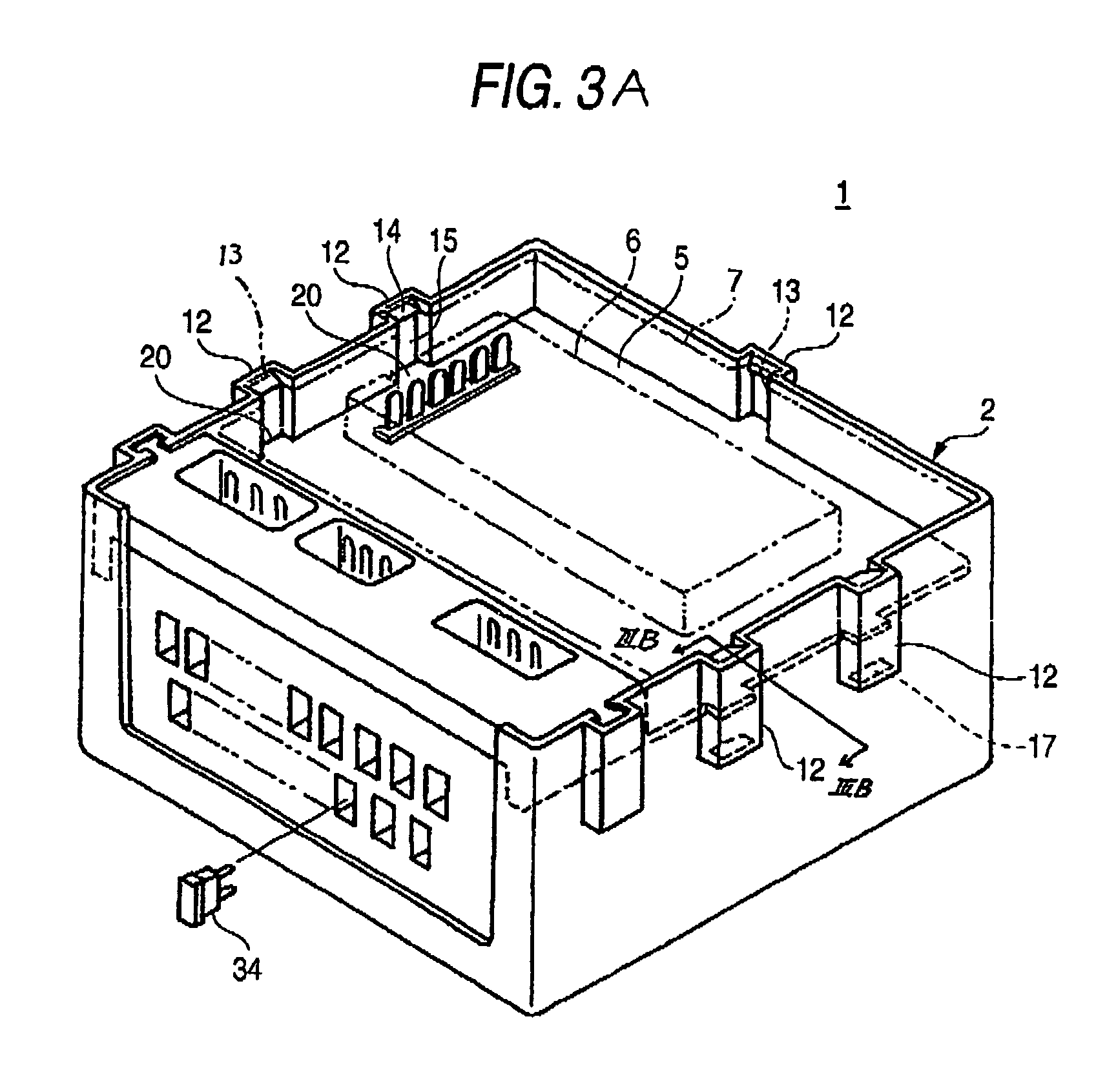 patent us6971888 - waterproof structure of electric junction box