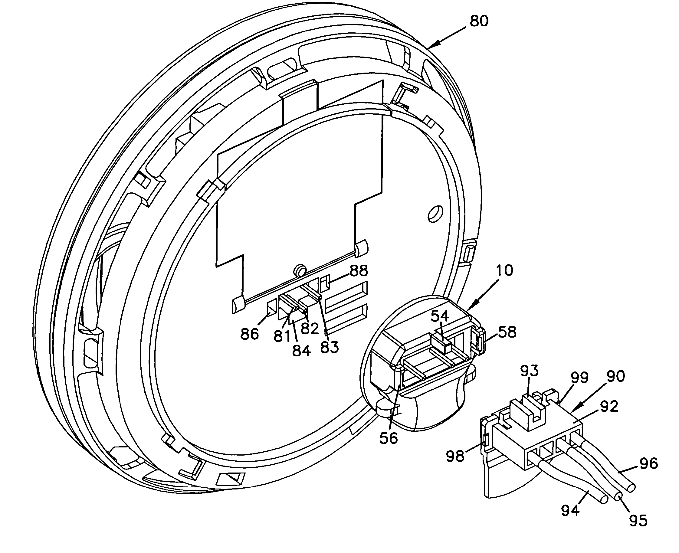 patent us6976883 - adaptor apparatus and method for interchanging smoke alarms