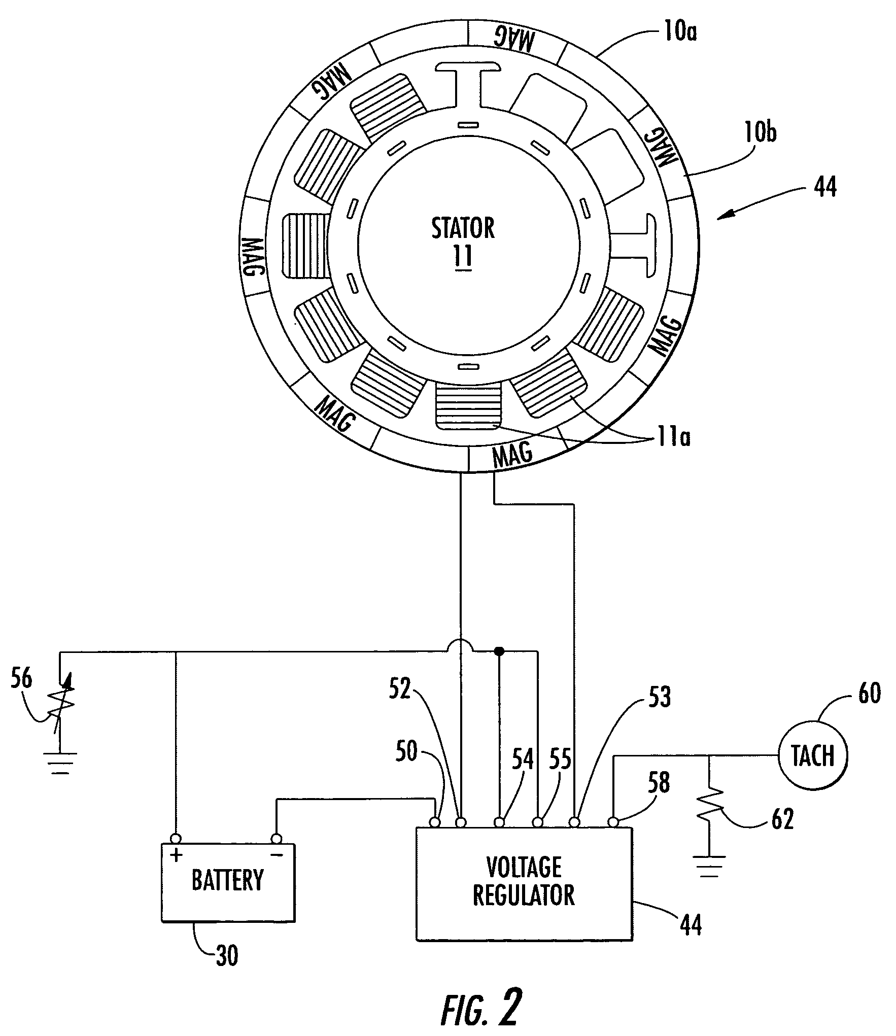 Electronics Wiring Diagrams Schematic : Patent us alternator system with temperature