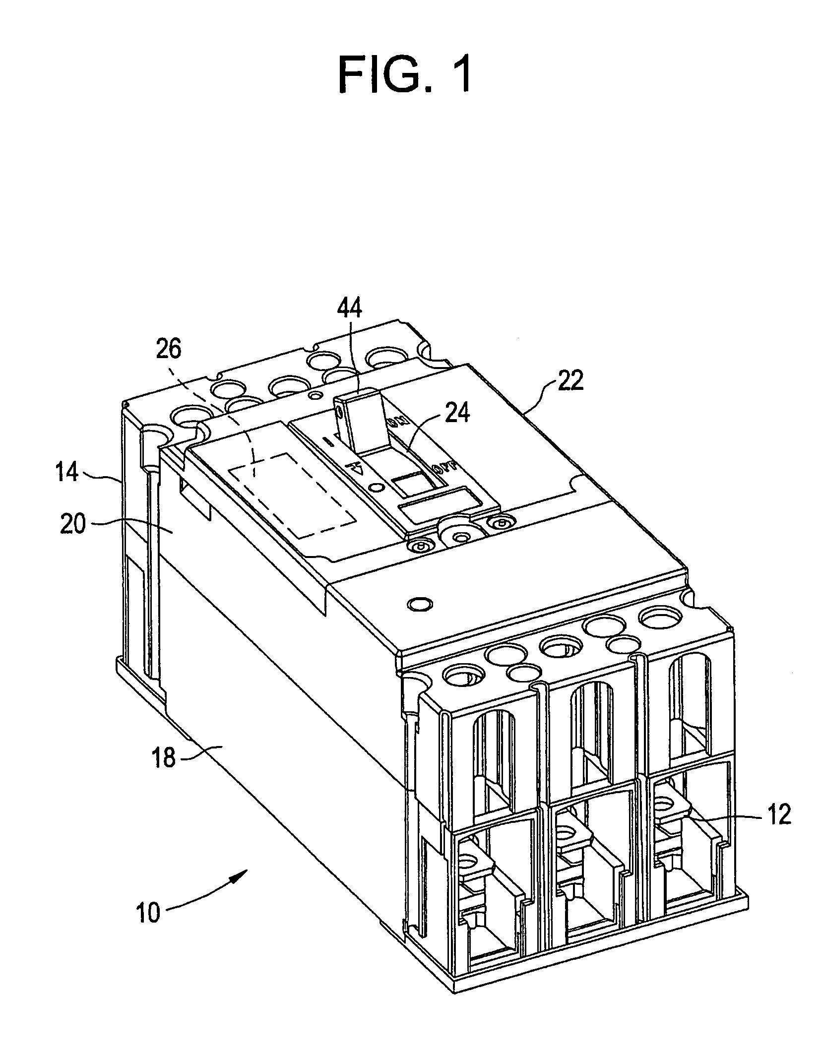 patent us6985059 - circuit breaker handle block