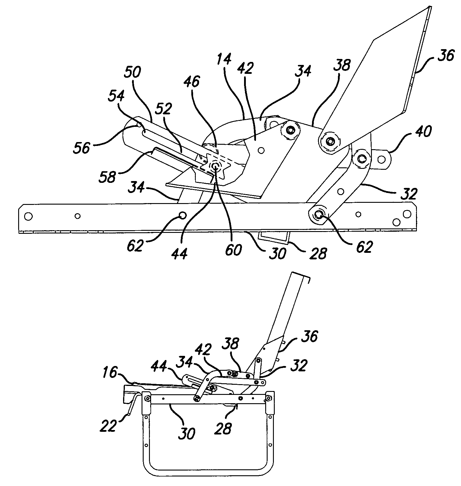 Patent Us6986175 Jackknife Style Convertible Bed With