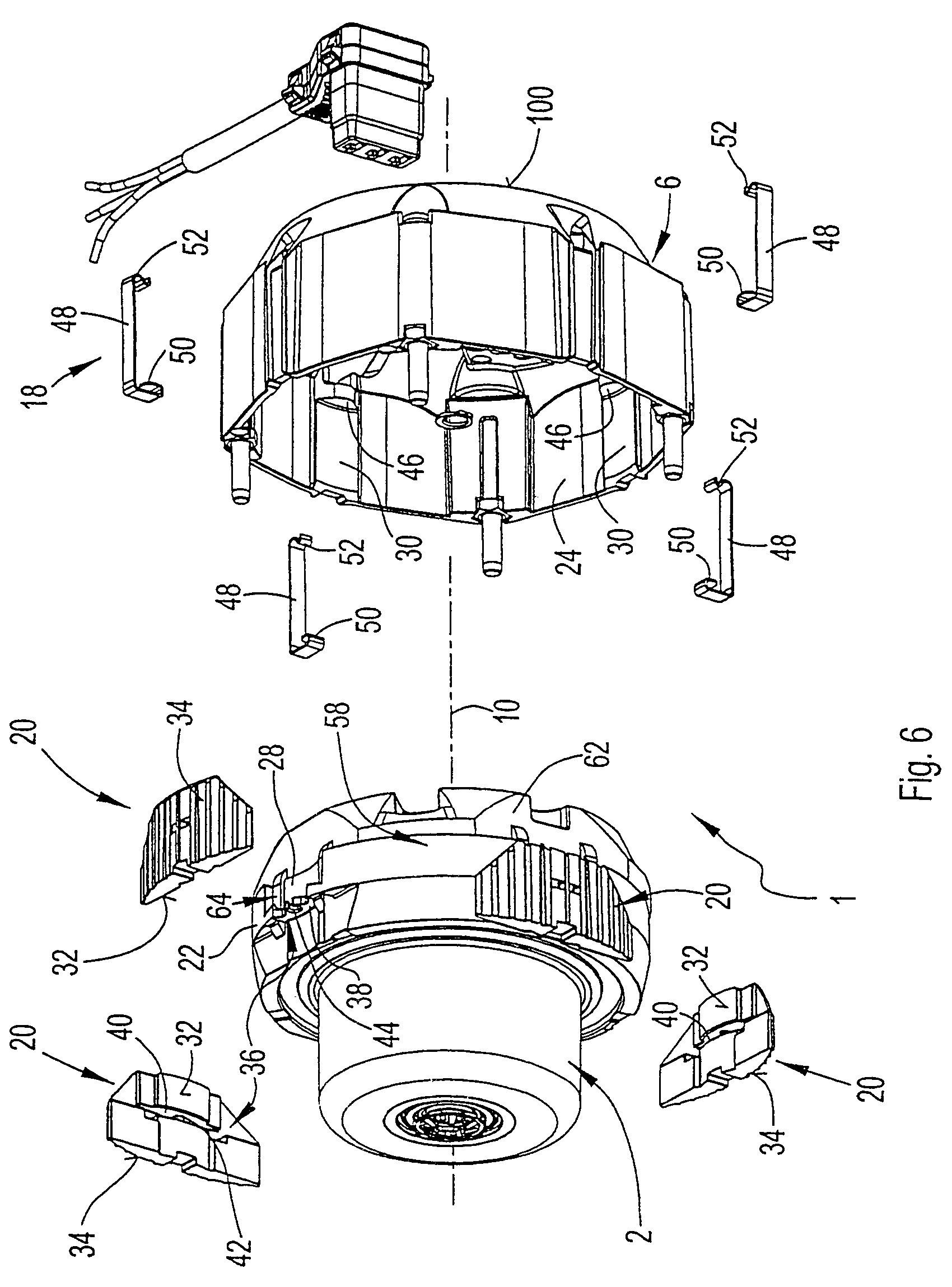 Patent Us6987336 Electric Motor With Screwless Plug Type Mounting Google Patents