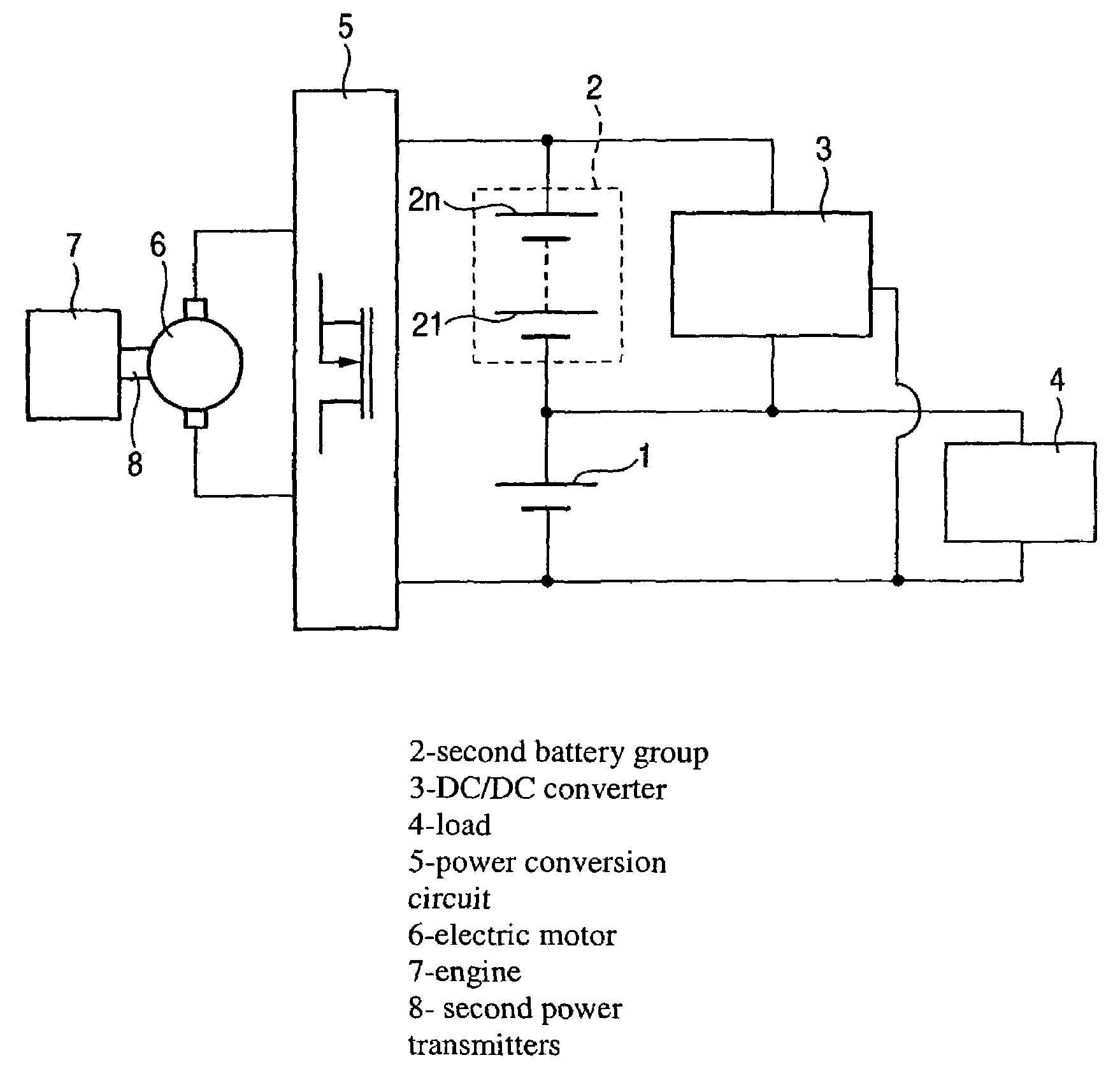 Patent Us6989653 Battery Power Circuit And Automobile Lectric Diagram Drawing
