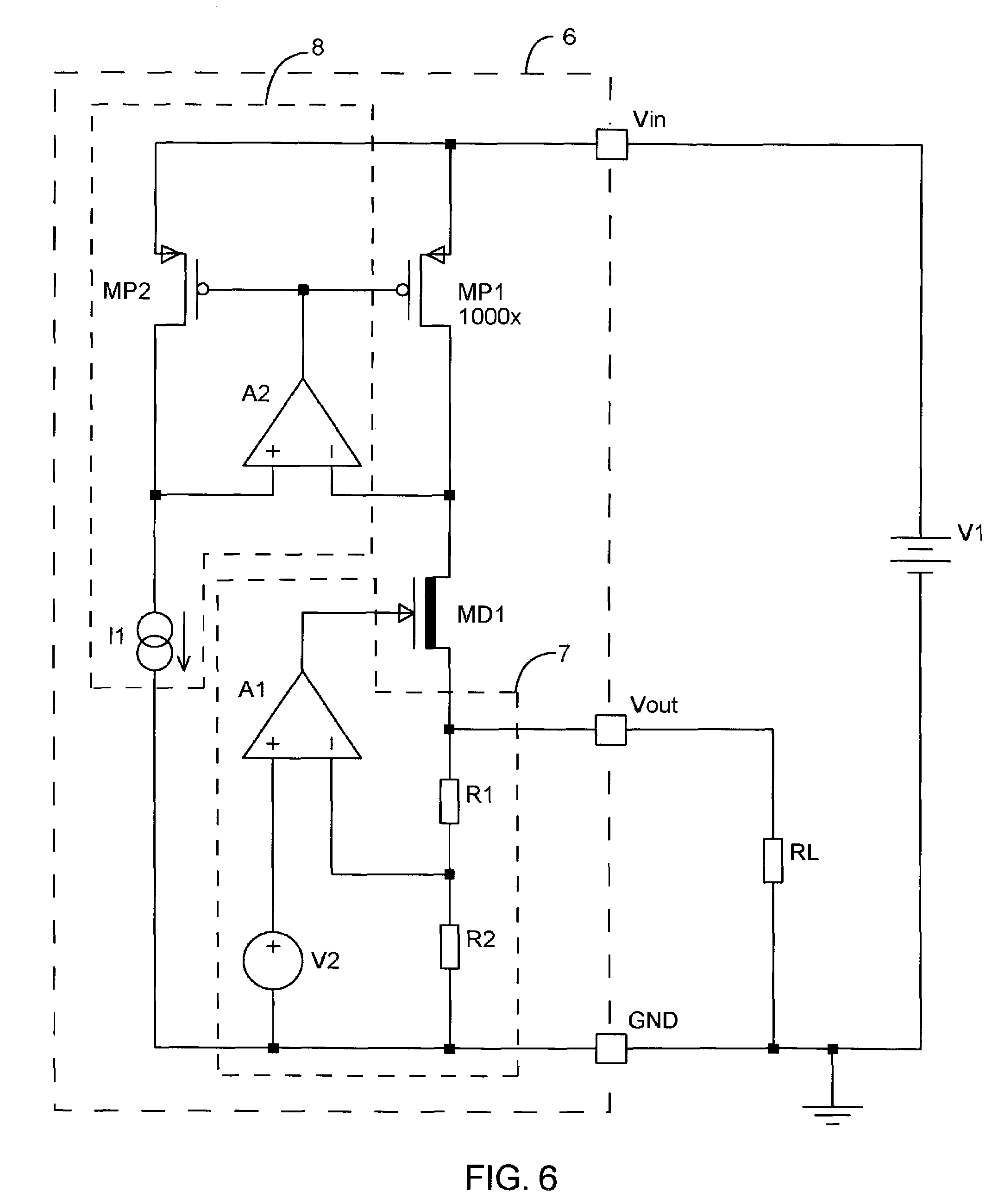 Patent Us6989659 Low Dropout Voltage Regulator Using A Depletion Picture Of Versatile With Lm317 Drawing