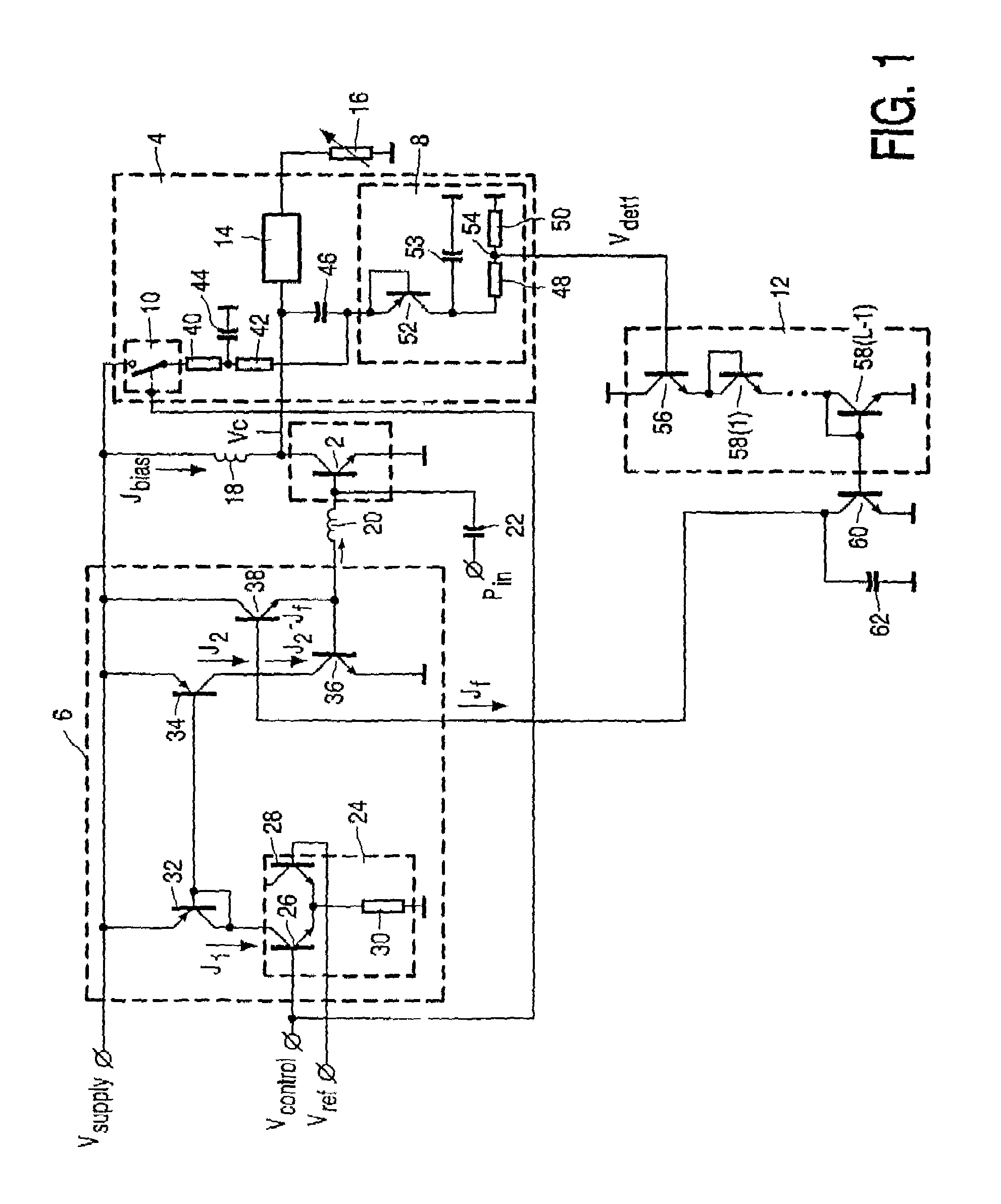 patent us6990323 - rf power amplifier circuit