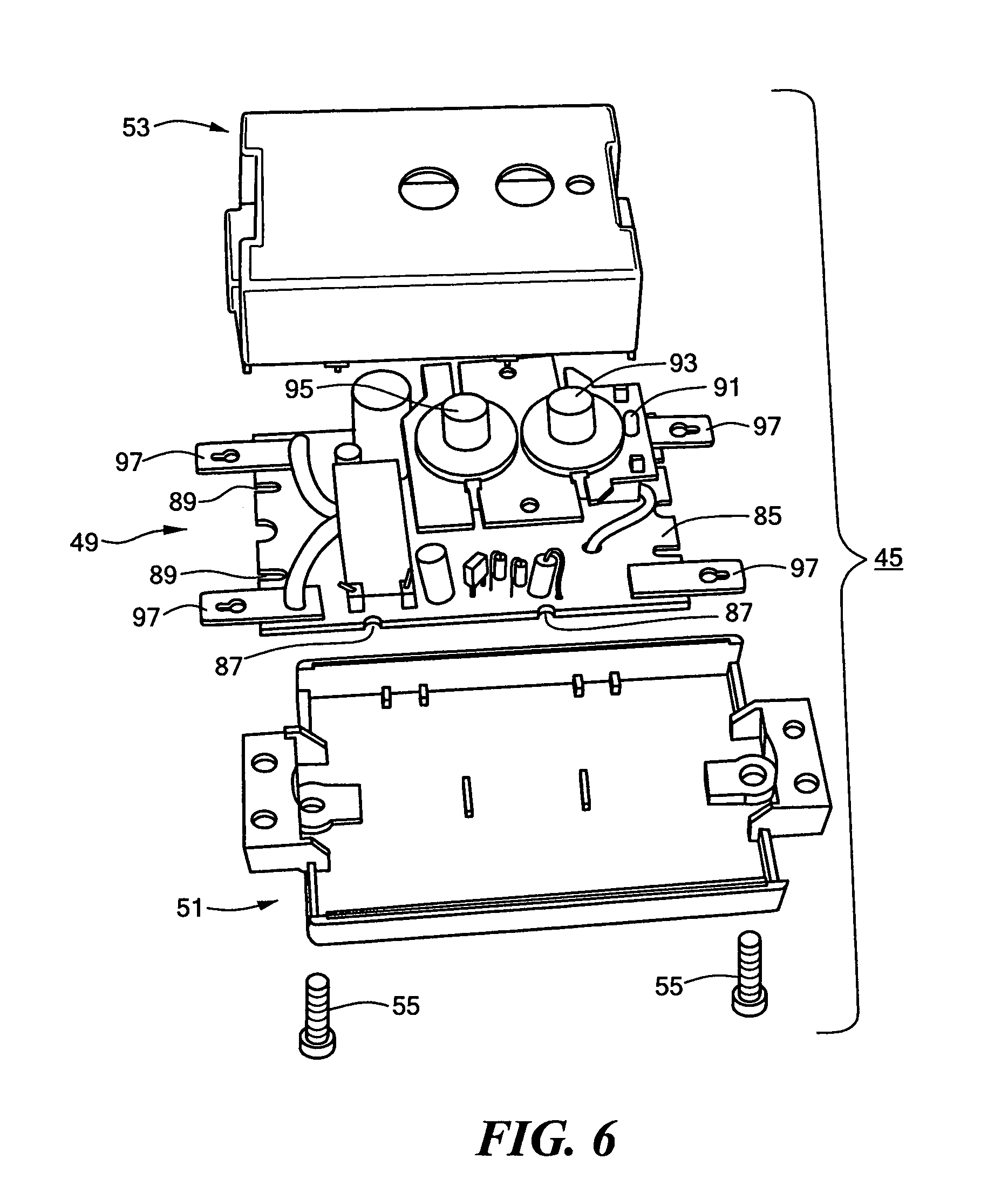 Patent Us6991495 Power Strip With Self Contained Ground Fault Pin Diagram Photo Interrupter Module Drawing