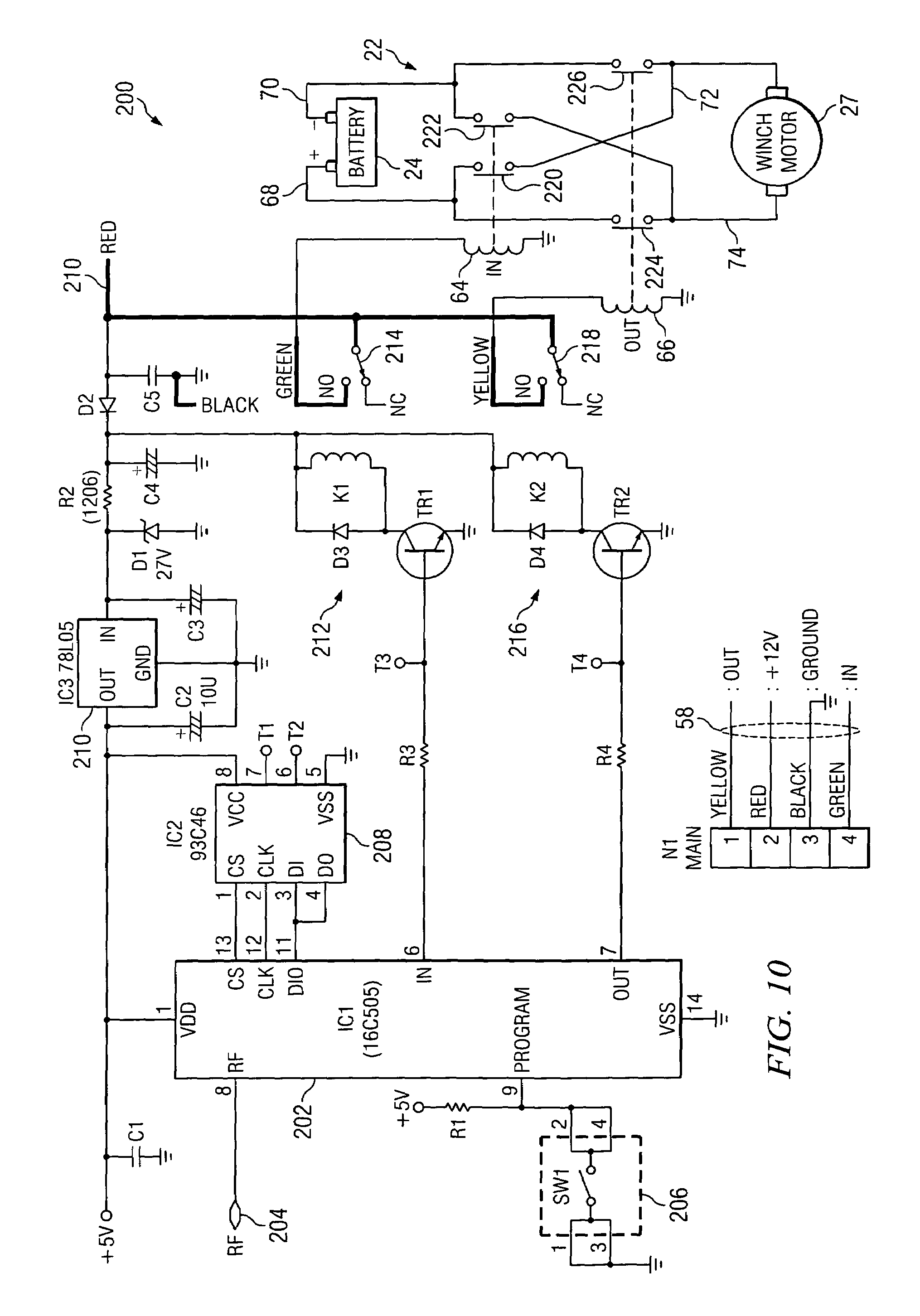 US06995682 20060207 D00007 patent us6995682 wireless remote control for a winch google auto crane wiring diagram at alyssarenee.co