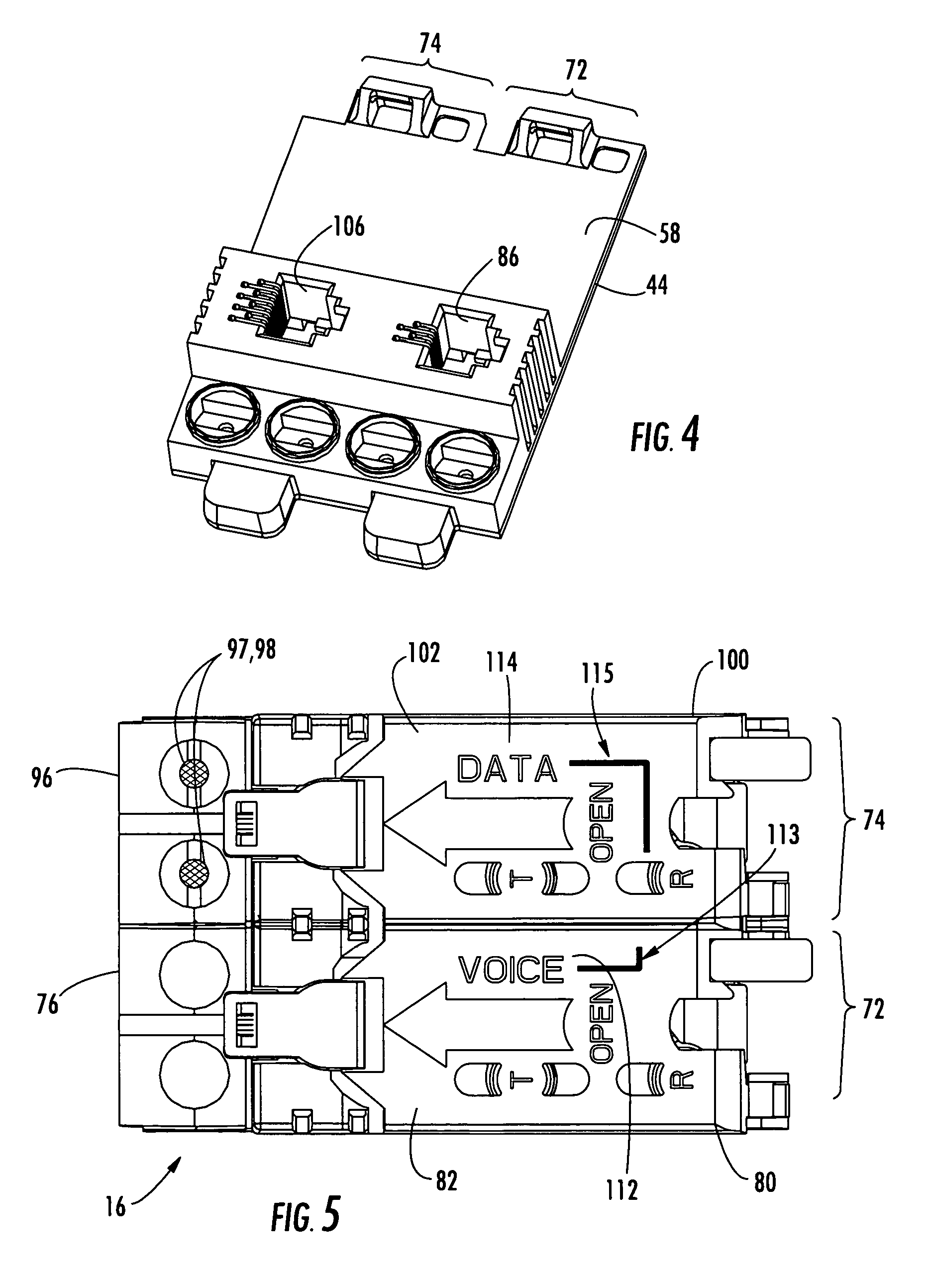 patent us xdsl splitter line module for network interface patent drawing