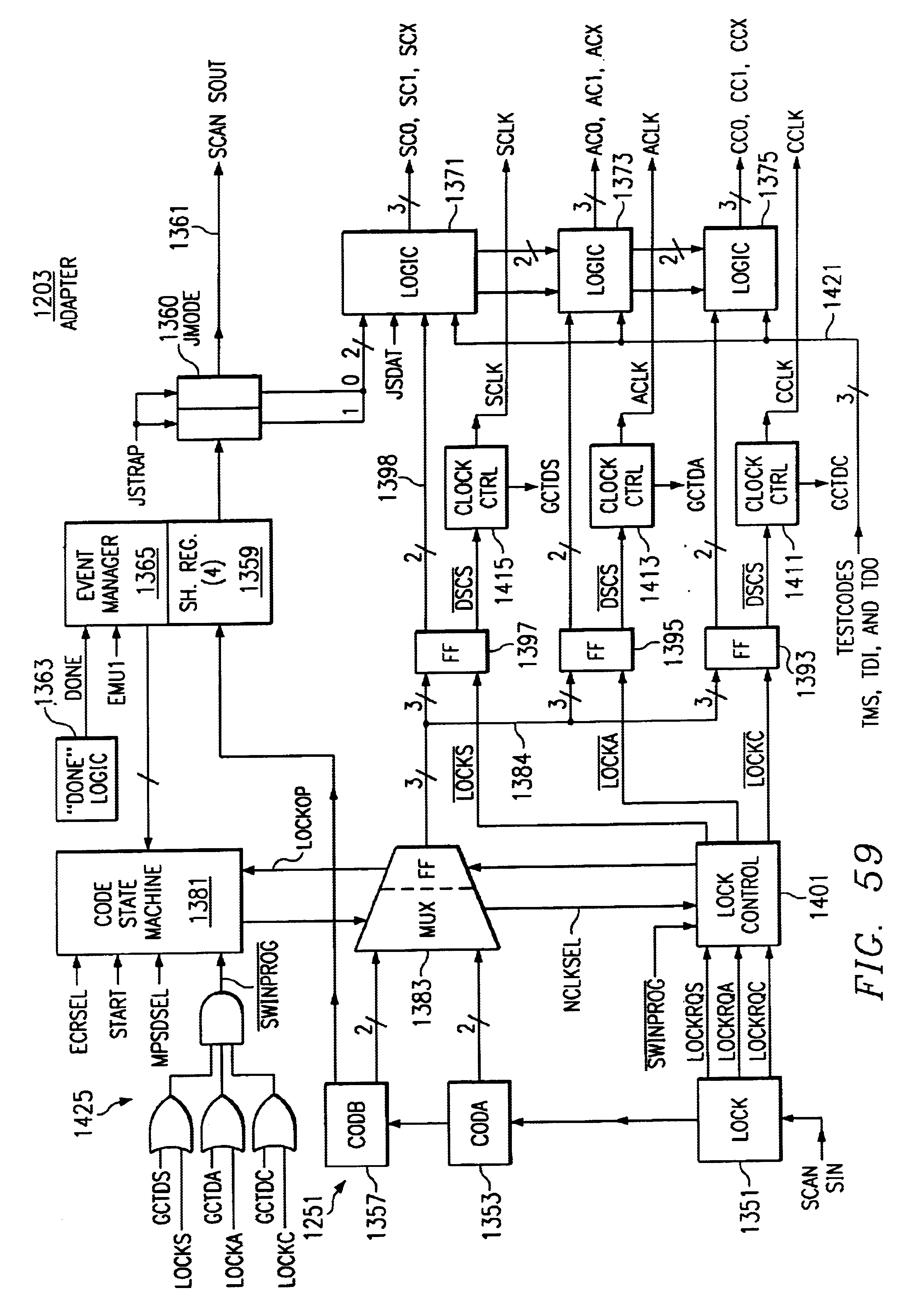 patent us6996747 - program counter trace stack  access port  and serial scan path