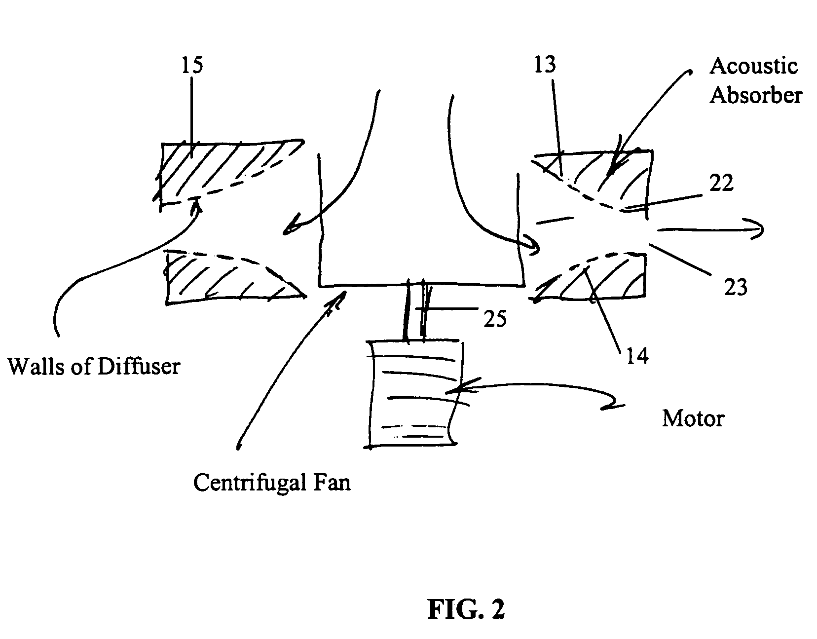 Patent US7001140 Centrifugal fan diffuser   Patents #666666