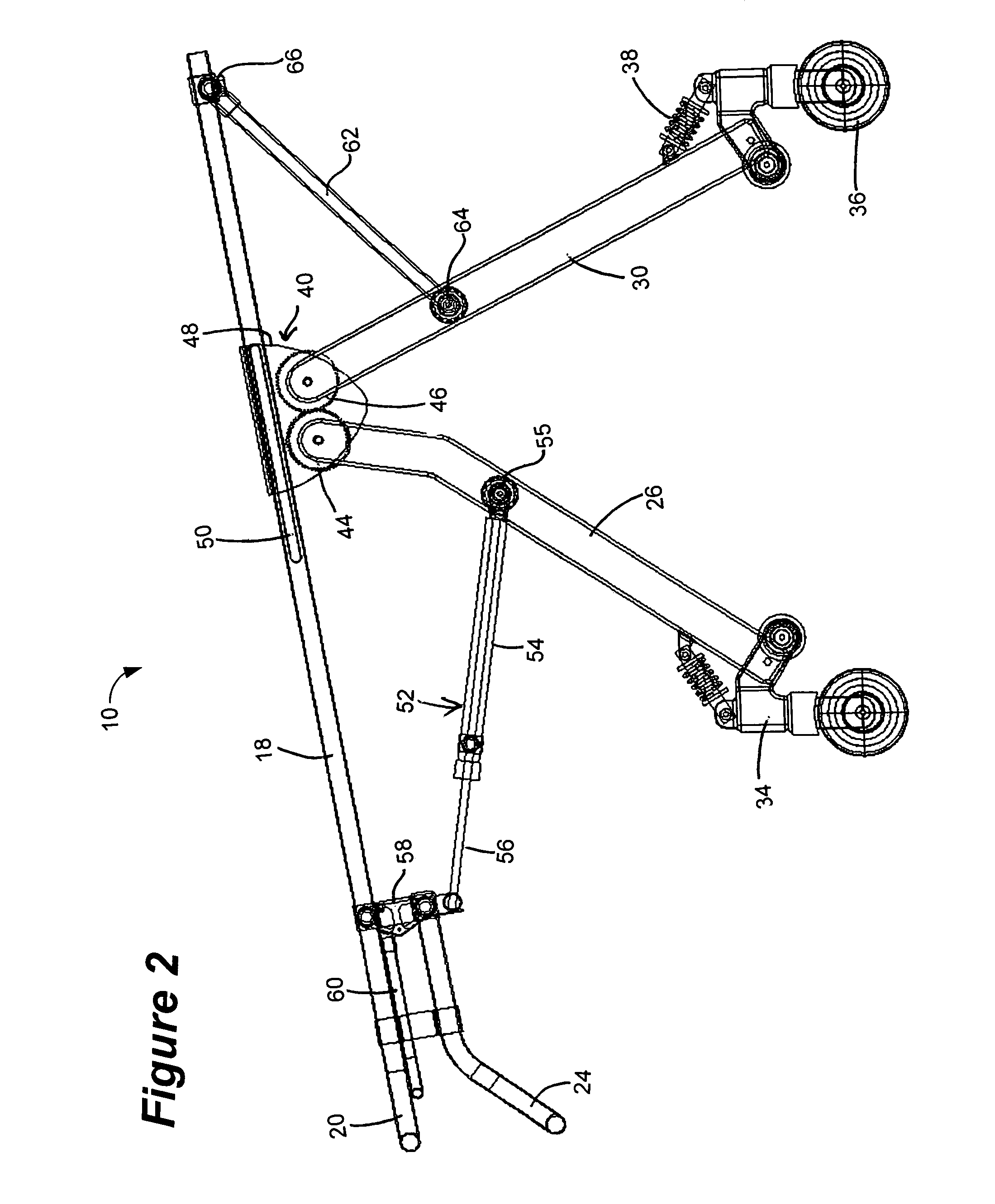 Patent US Stretcher with gear mechanism for adjustable