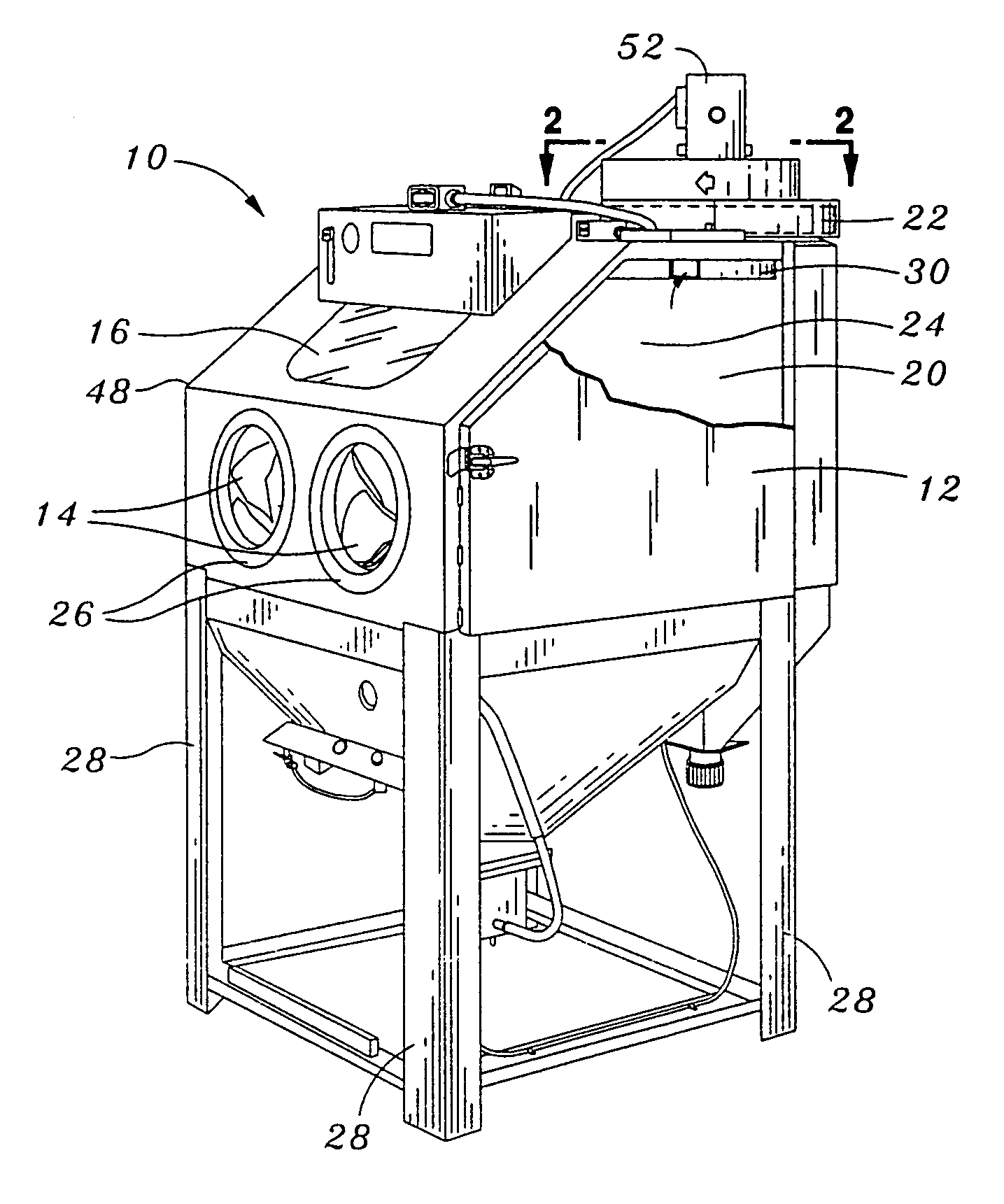 Sand Blasting Cabinets Patent Us7008304 Abrasive And Dust Separator Google Patents