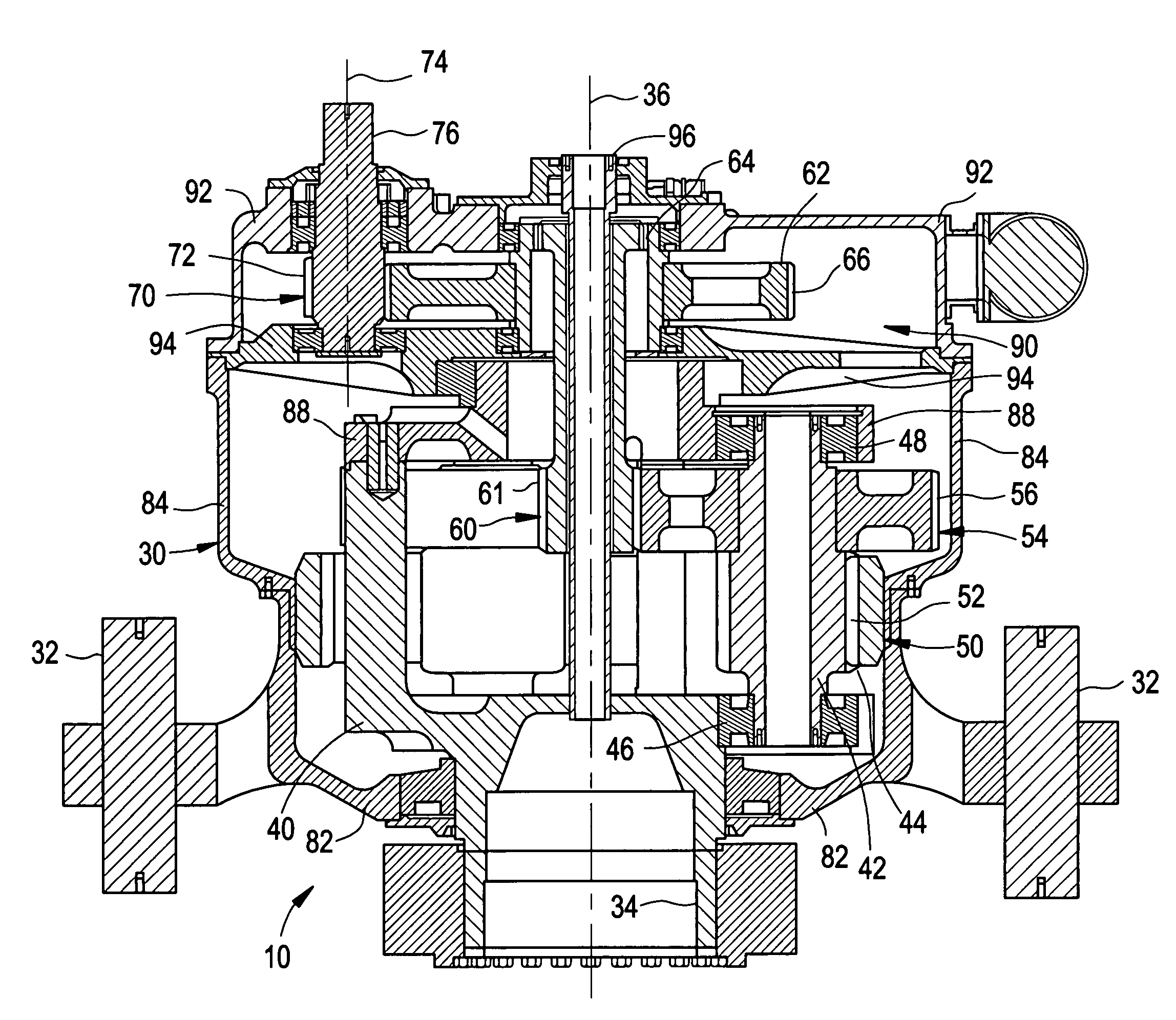 patent us7008348 - gearbox for wind turbine
