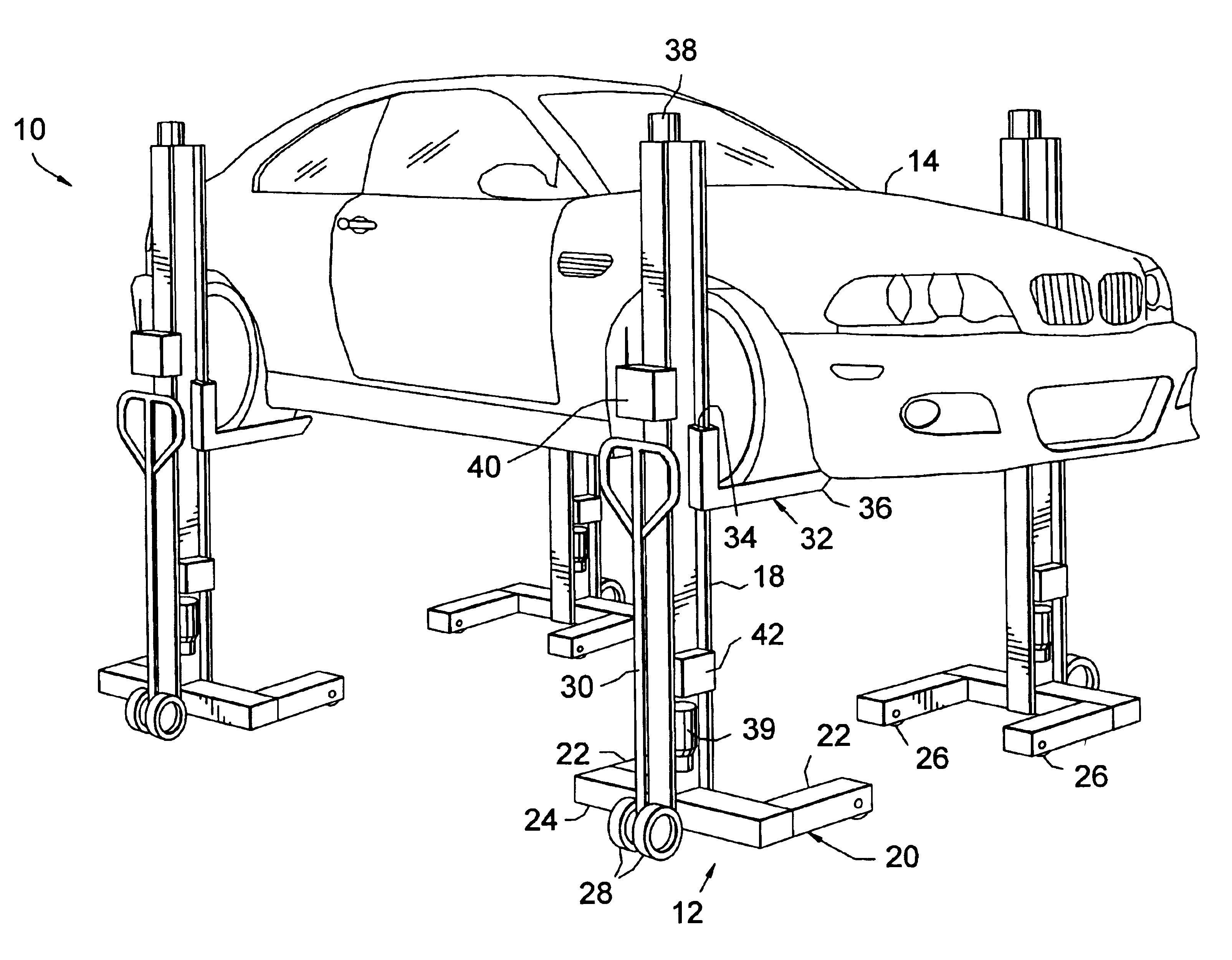Patent us7014012 coordinated lift system google patents Car lift plans