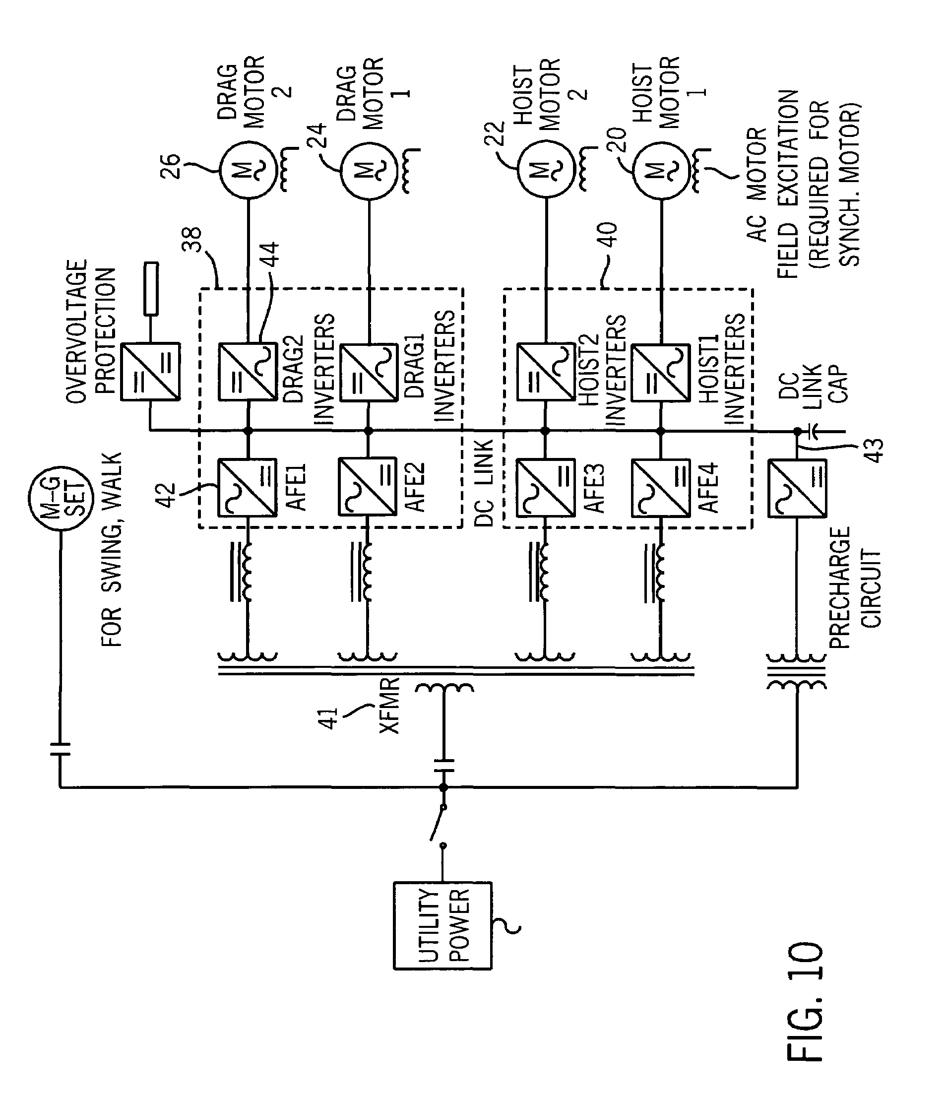 Ge Dc Motor Wiring Diagram Diagrams Instructions Dragline Drag Patent Us7024805 Excavating Machine With Direct Drive