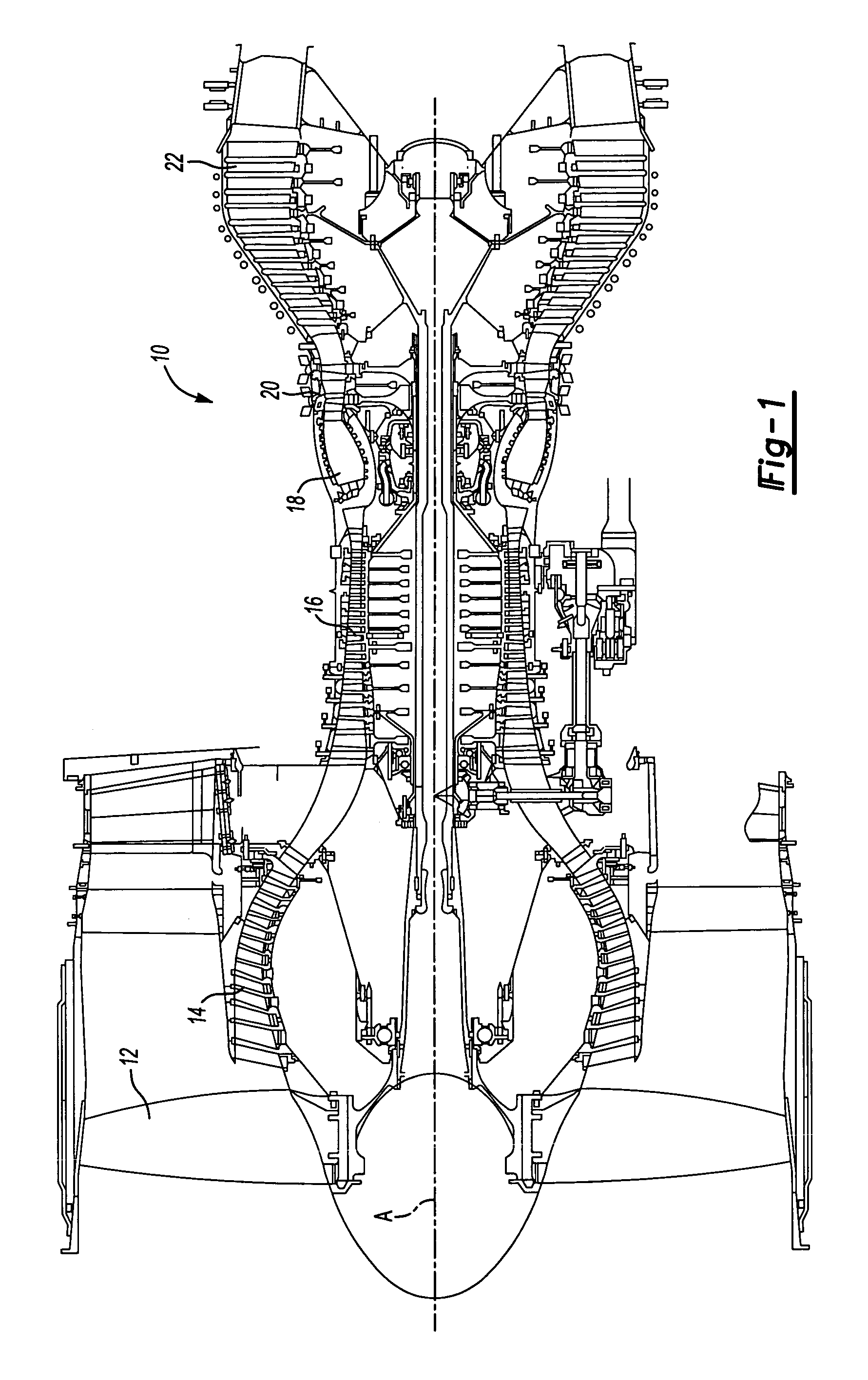 patent us7025563 - stator vane assembly for a gas turbine engine