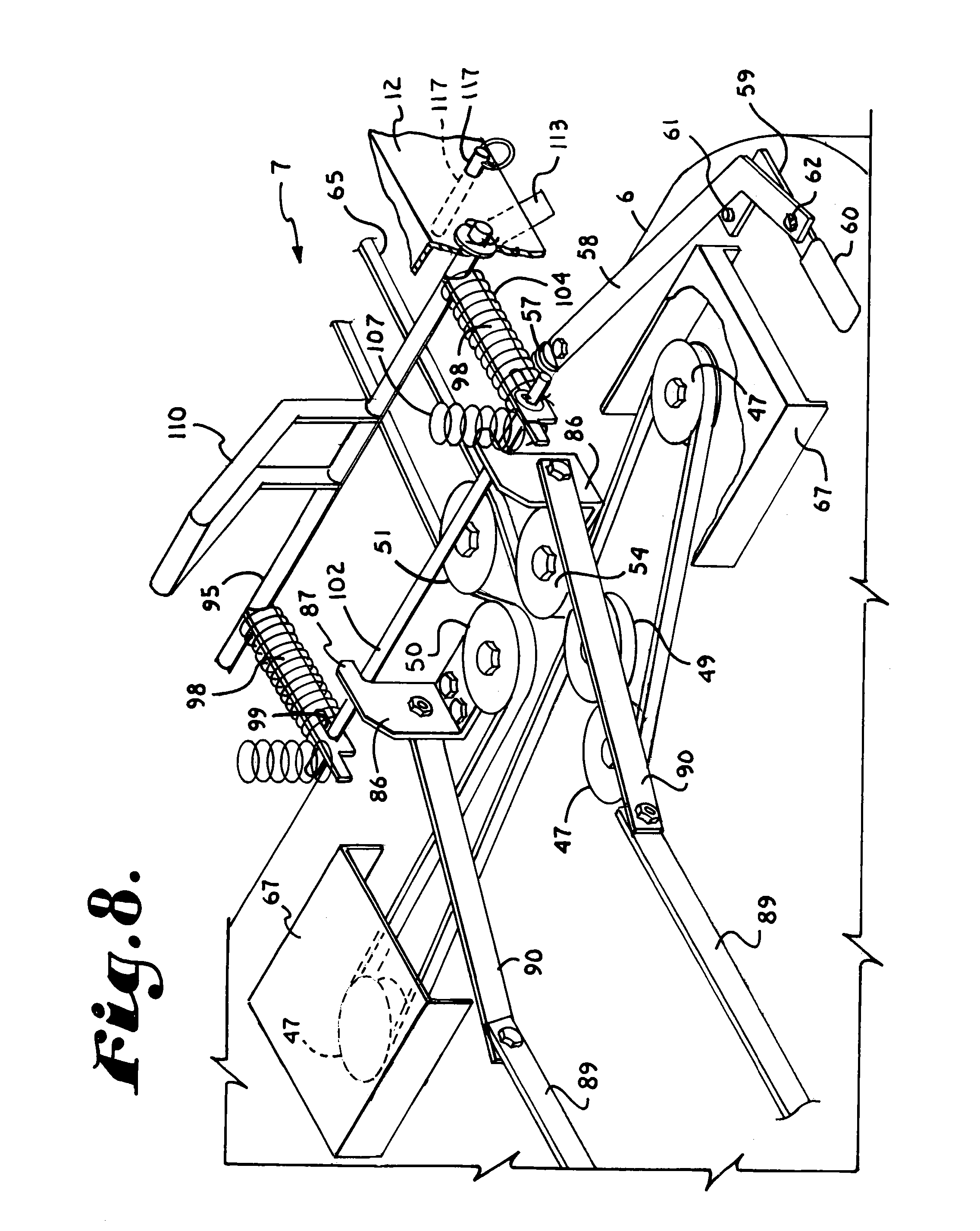 patent us7028456 - mower with flip up mowing deck