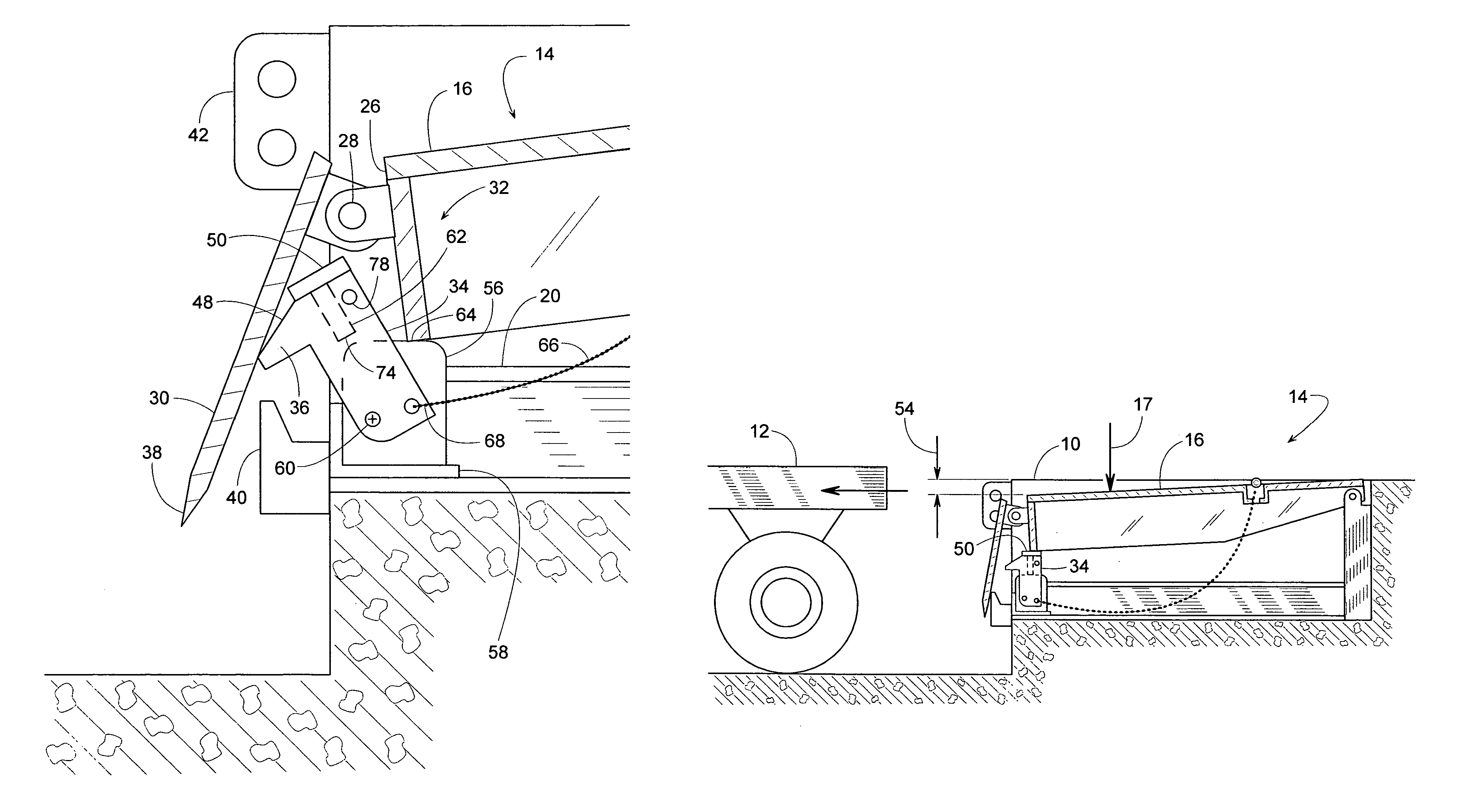 Patent Us7032267 - Dock Leveler With Combination Safety Leg And Lip Deflector