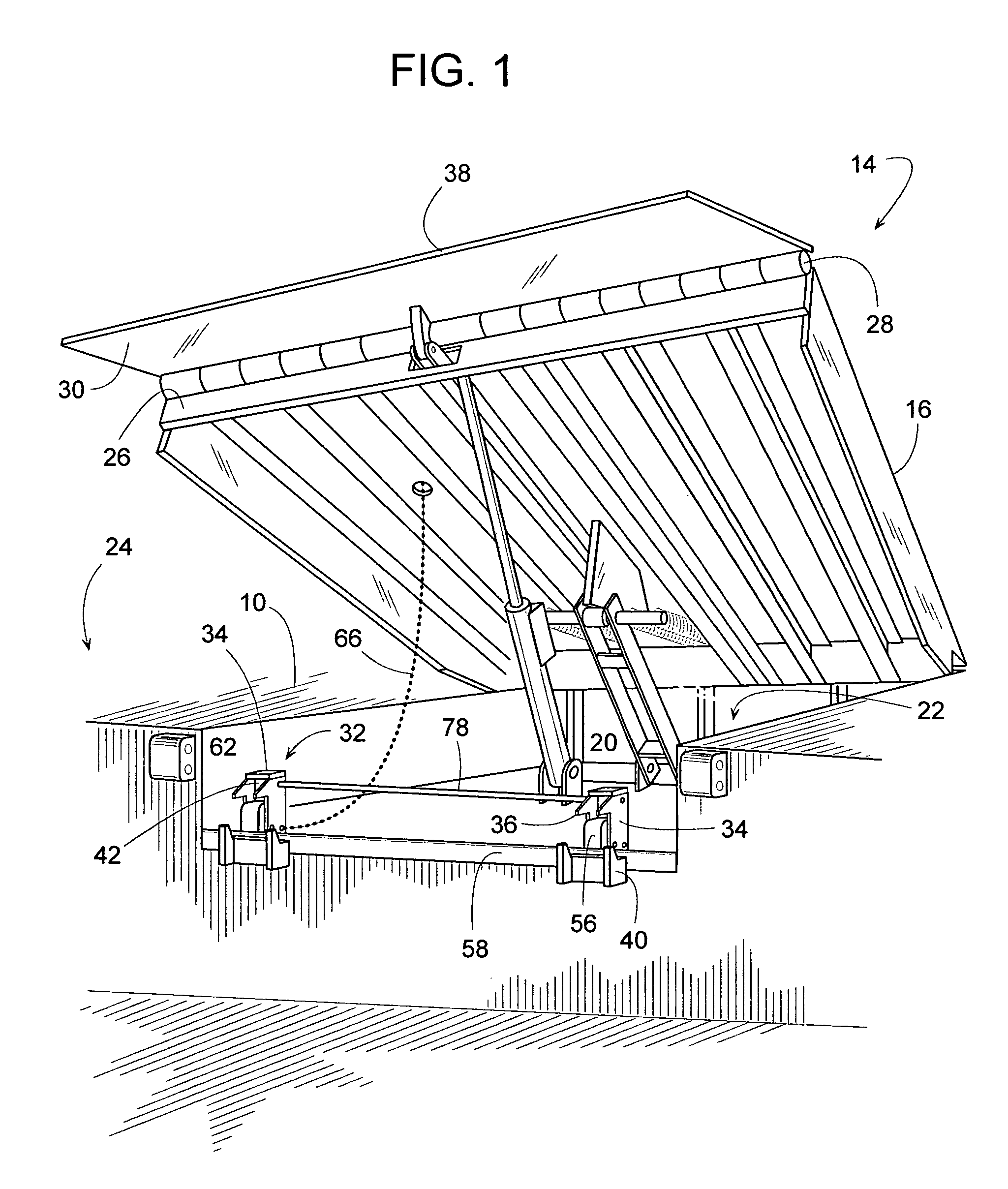 patent us7032267 dock leveler combination safety leg and patent drawing
