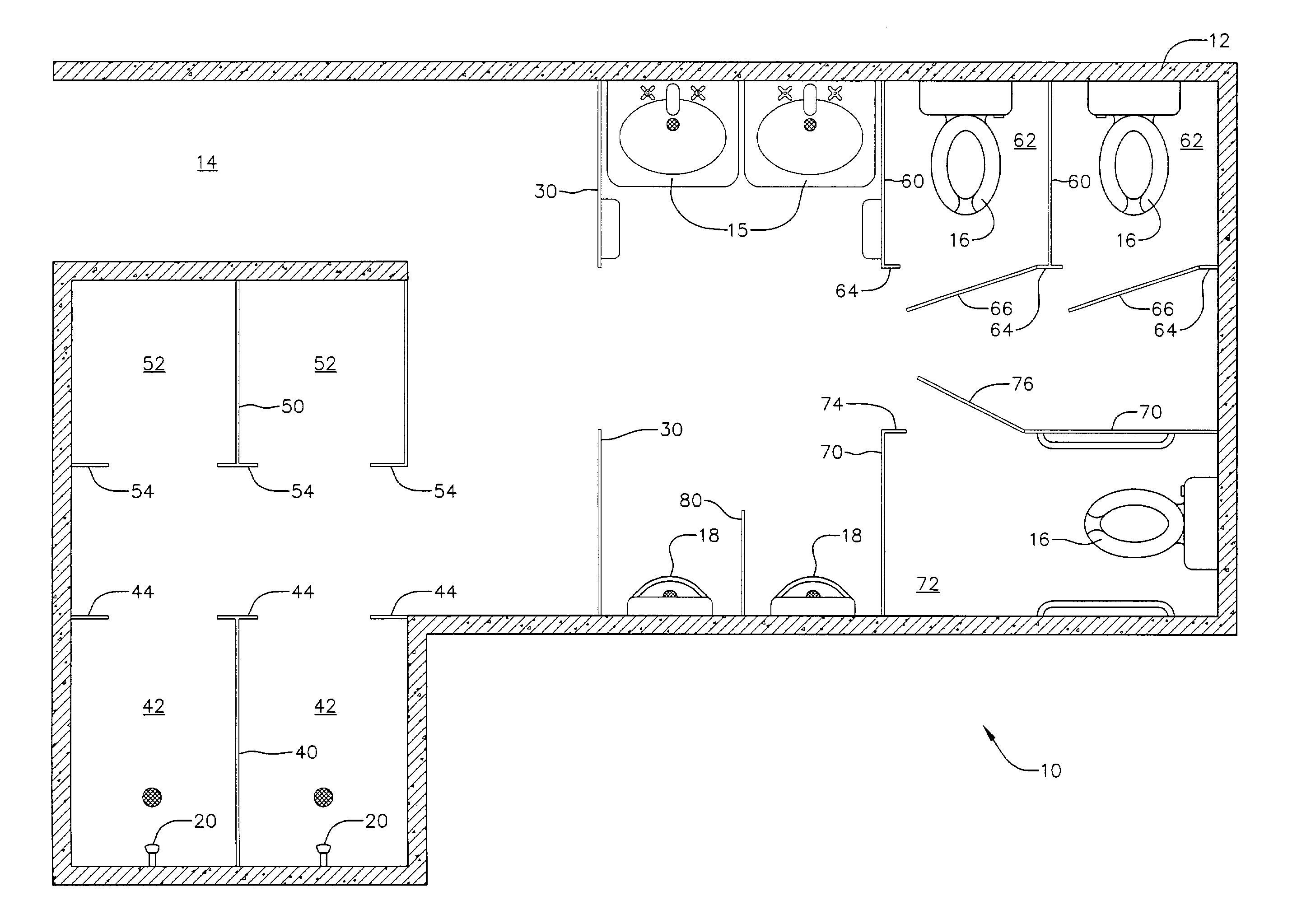 Bathroom Partition Accessories patent us7032351 - vandal resistant bathroom partition - google