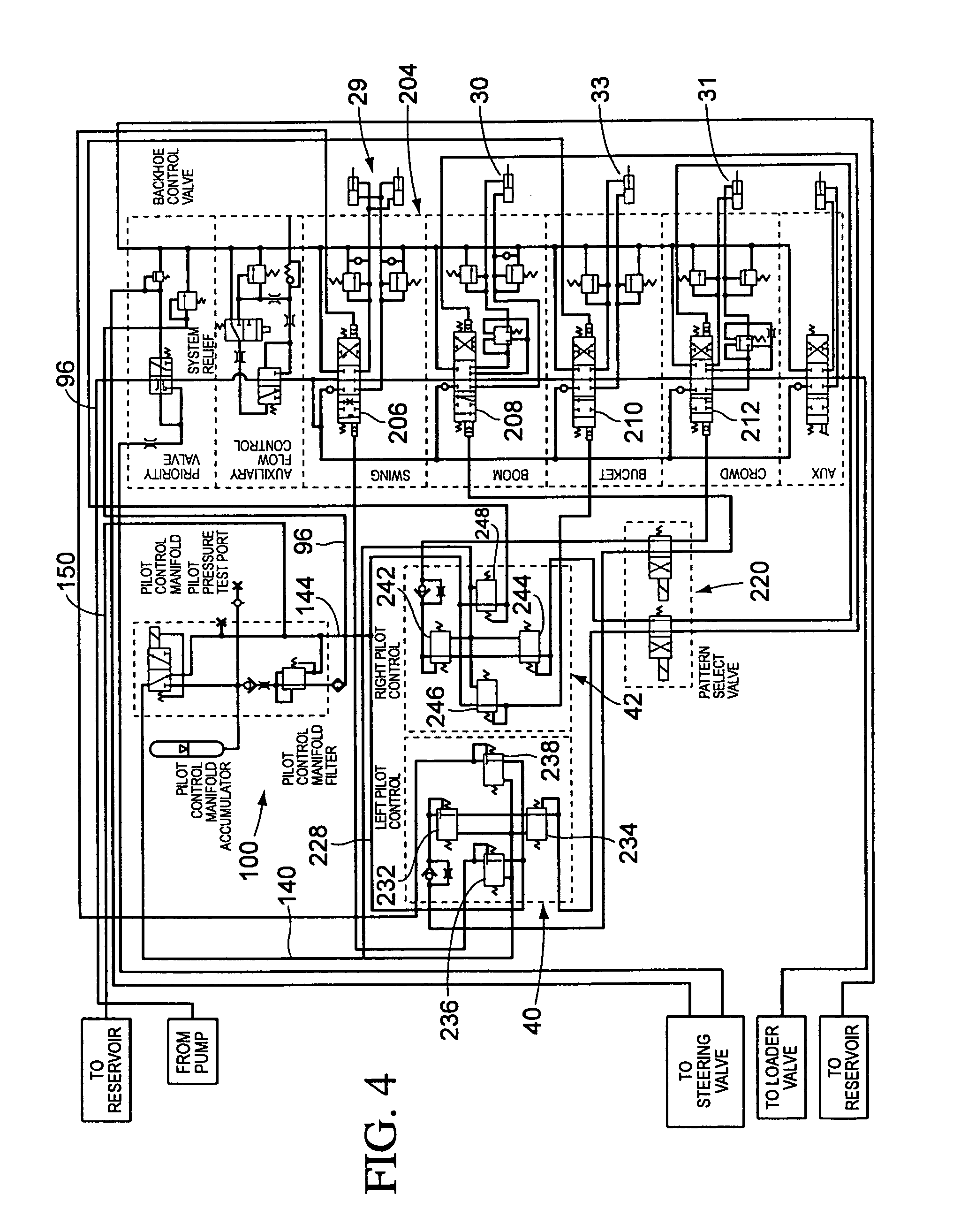 patent us7036248 pattern select valve for control levers of a John Deere Alternator Wiring john deere 310 backhoe wiring diagram John Deere 410B Parts Diagram John Deere 310D 310E John Deere Electrical Schematics