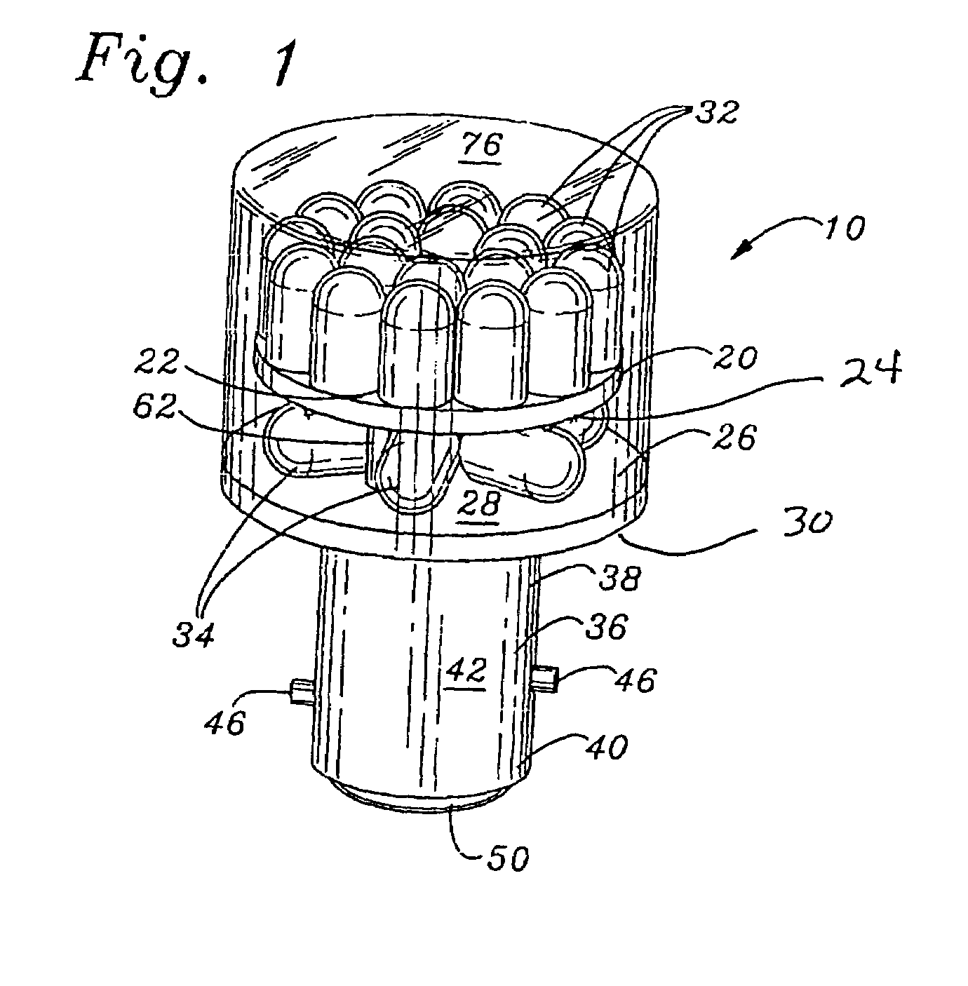 patent us7040790 - two circuit led light bulb