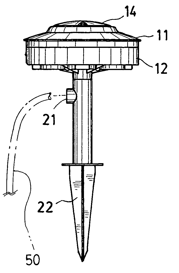 patent us7041899 - outdoor electrical outlet stand with control device