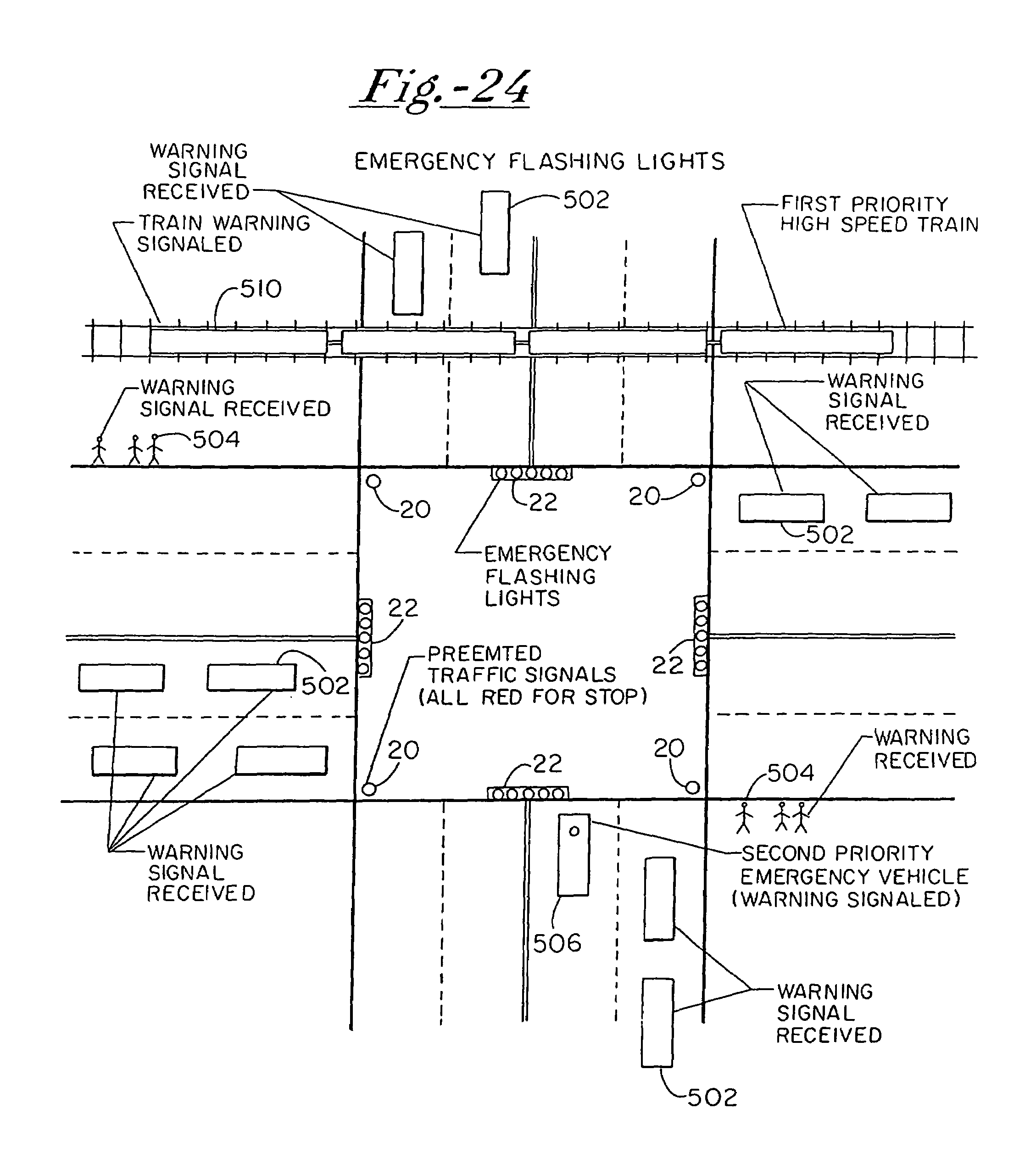Patent Us7042345 Intelligent Vehicle Apparatus And Method For Traffic Light Schematic Diagram Drawing