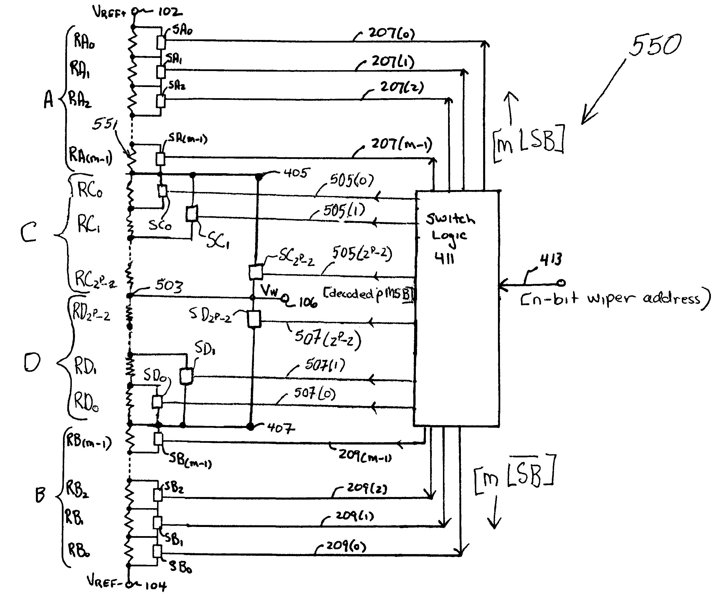 Patent Us7042380 Digital Potentiometer With Resistor Binary 256 Tap Digitally Potentiometers Drawing