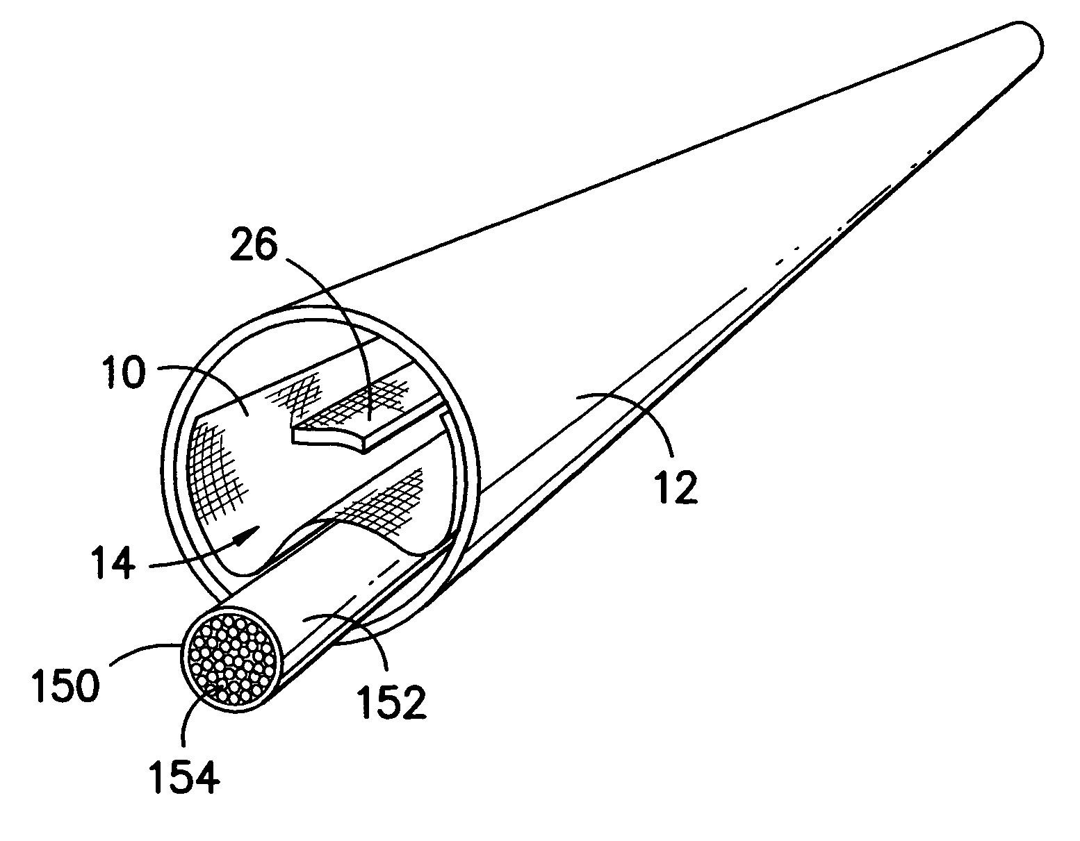 patent us7046898 - conduit insert for optical fiber cable