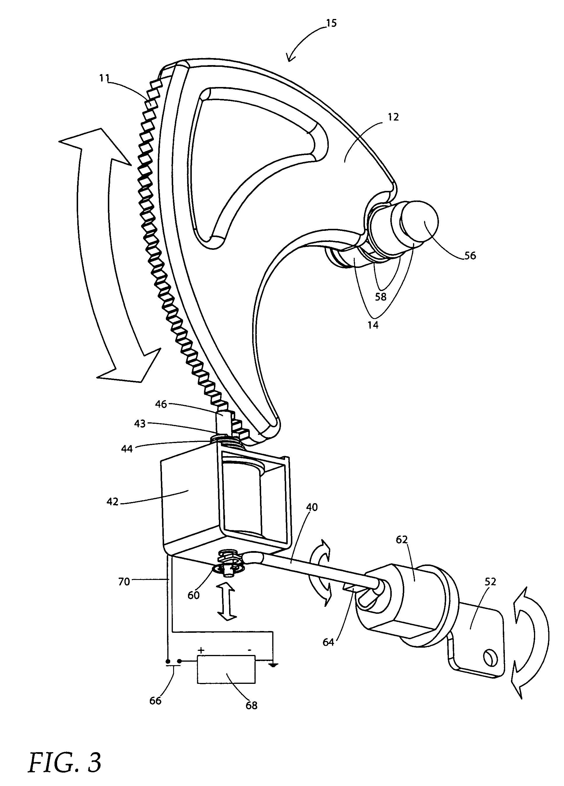 US07047771 20060523 D00003 patent us7047771 universally adjustable gun rack and lock santa cruz universal gun lock wiring diagram at soozxer.org