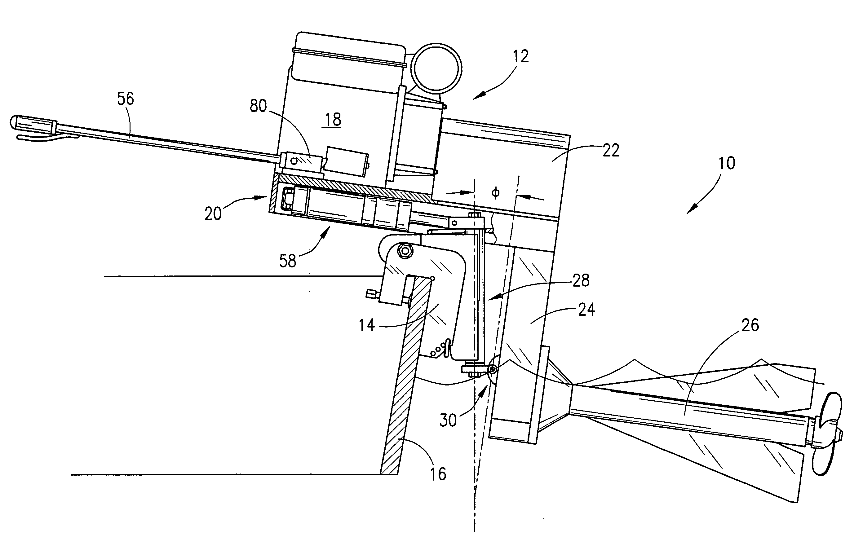 Patent us7048600 method and apparatus for air cooled for Air cooled outboard motor kits