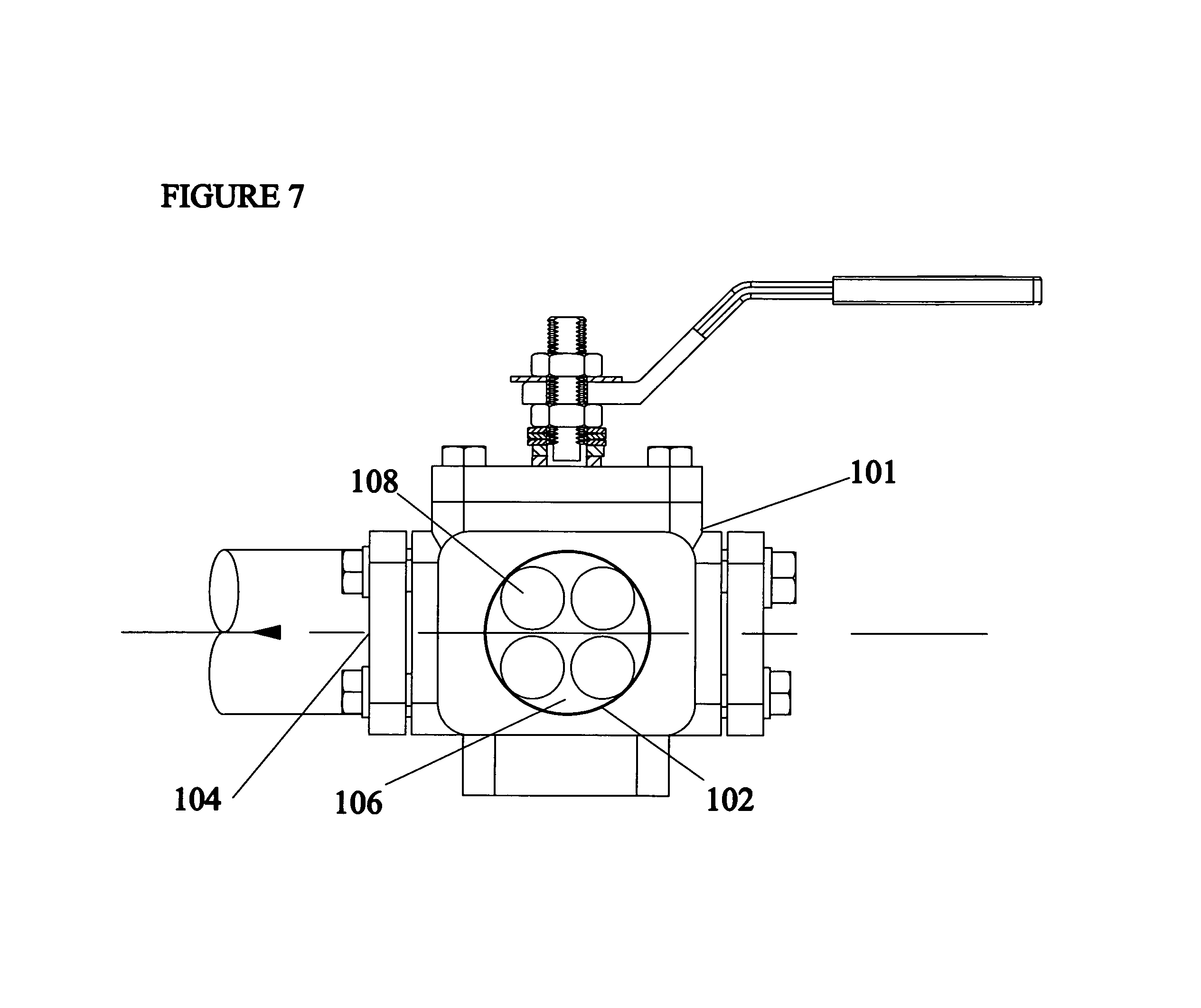 Brevet Us7051760 Three Way Inline Piggable Branch Valve Google The Second Method Is To Connect Receptacle By Use Of Pig Patent Drawing
