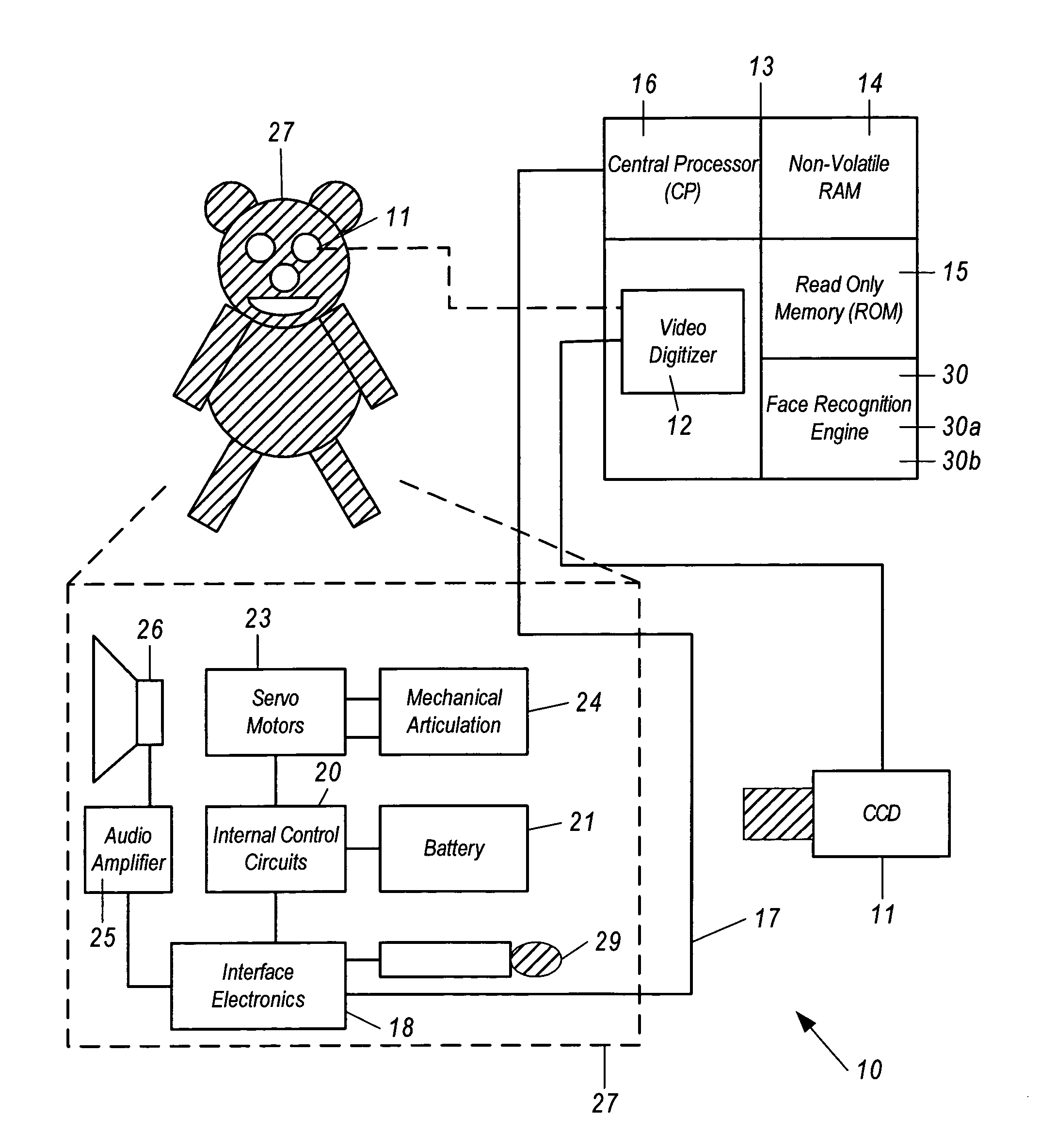 US07062073 20060613 D00000 patent us7062073 animated toy utilizing artificial intelligence teddy ruxpin wiring diagram at bakdesigns.co